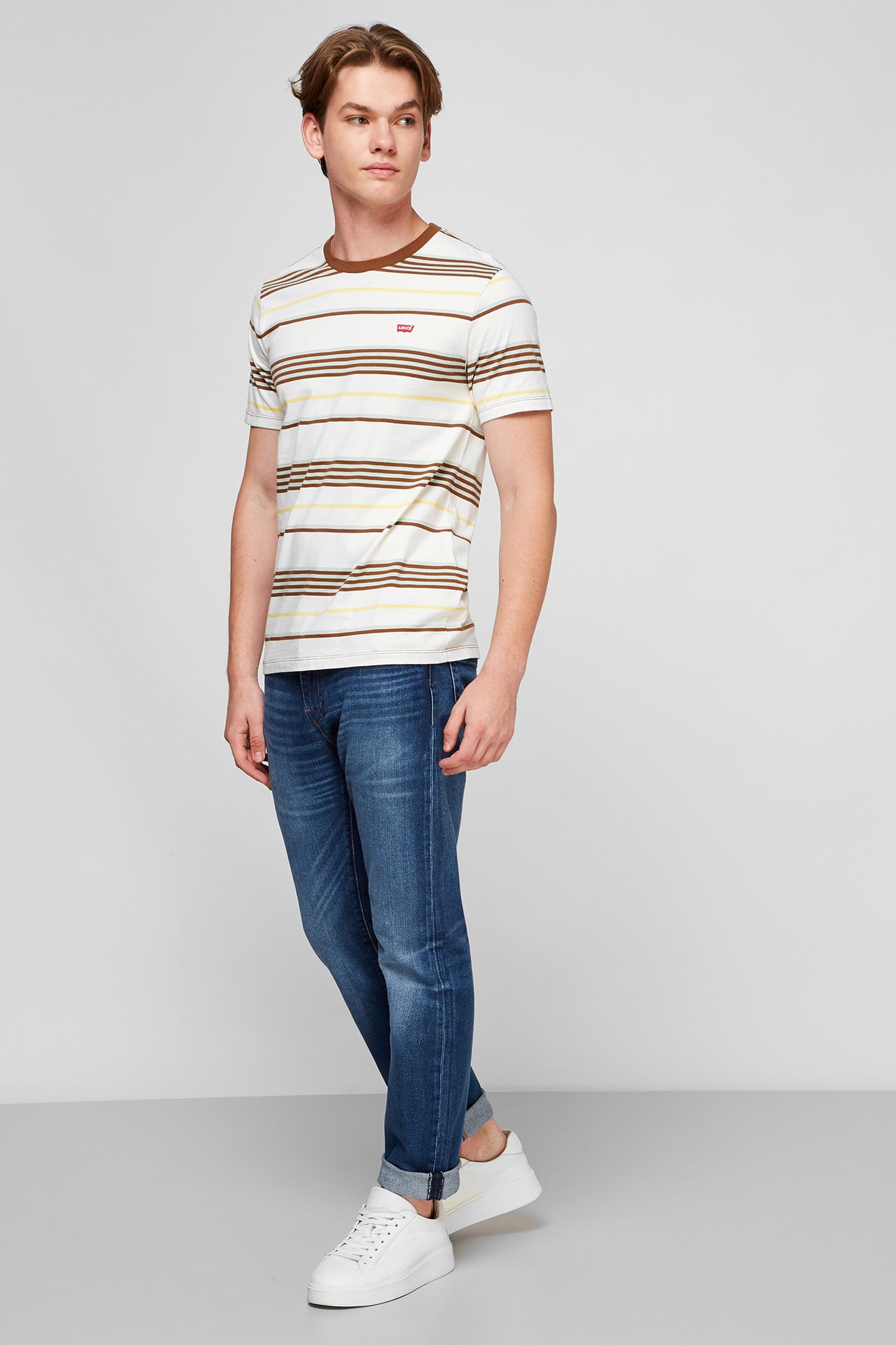 Белая футболка в полоску для парней Levi's 56605;0049