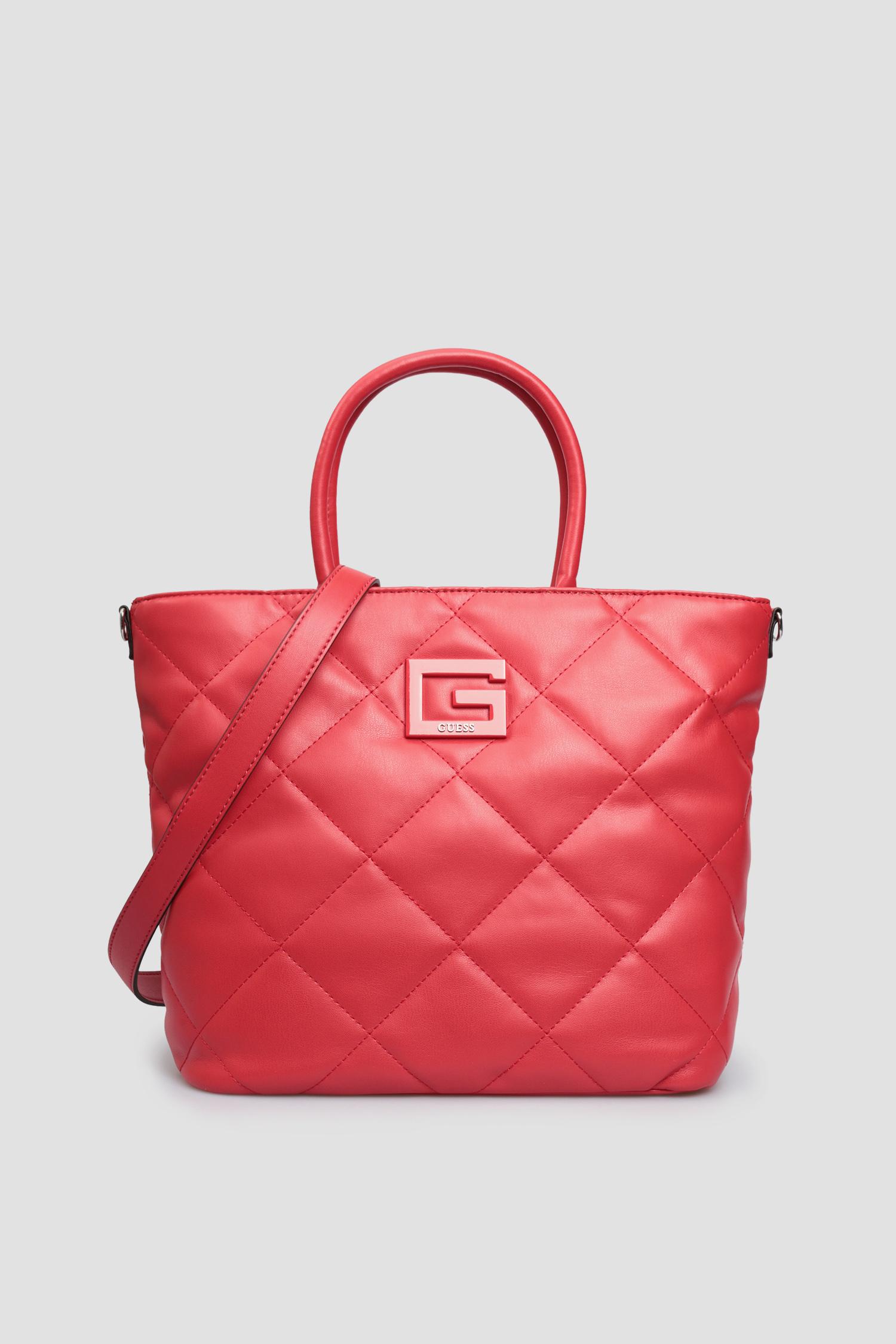 Женская красная сумка Guess HWQR75.80230;RED