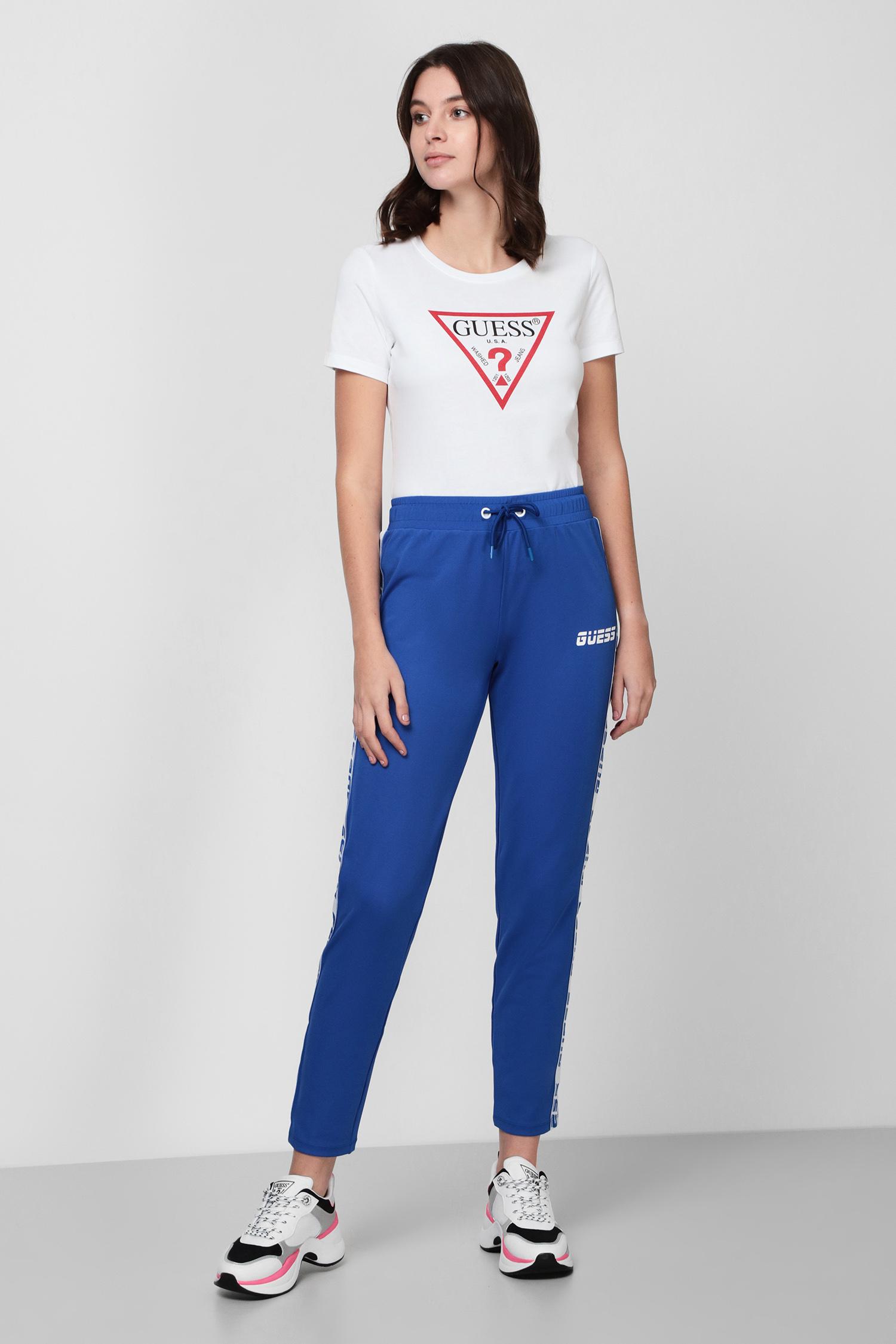 Женские синие спортивные брюки Guess O0BA94.FL032;WLBL