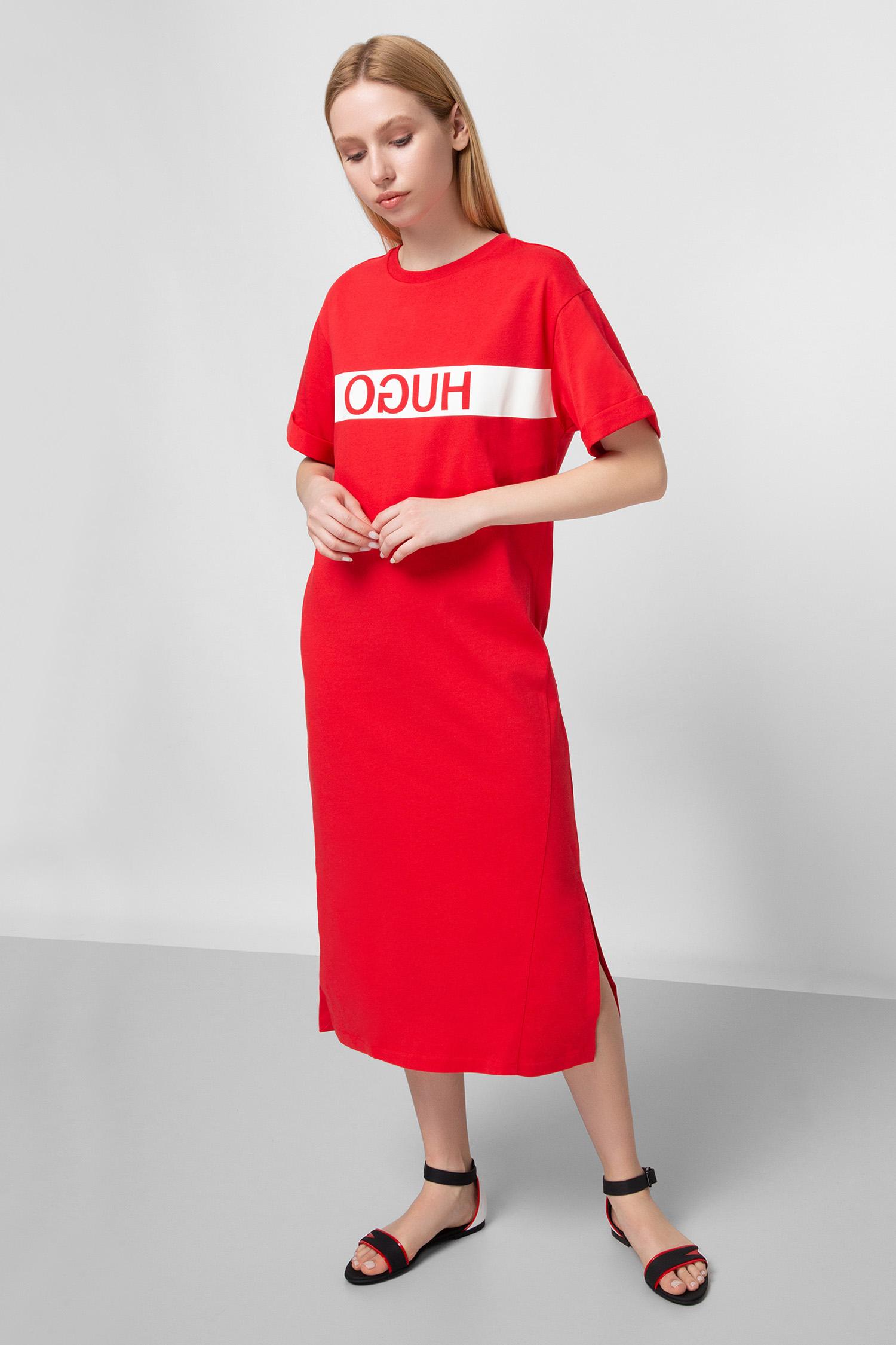 Женское красное платье HUGO 50427925;693