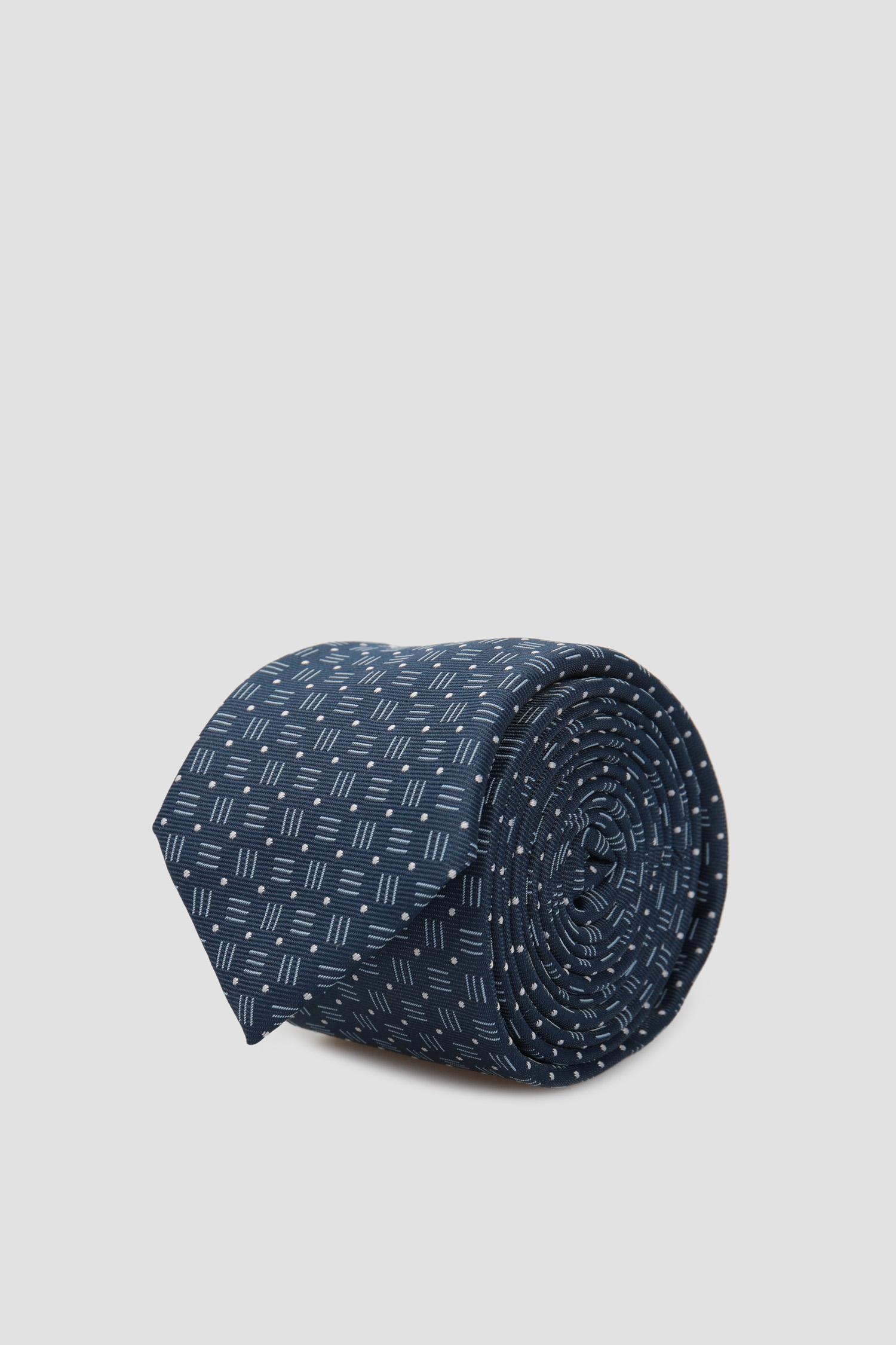 Мужской синий галстук с узором BOSS 50434855;403