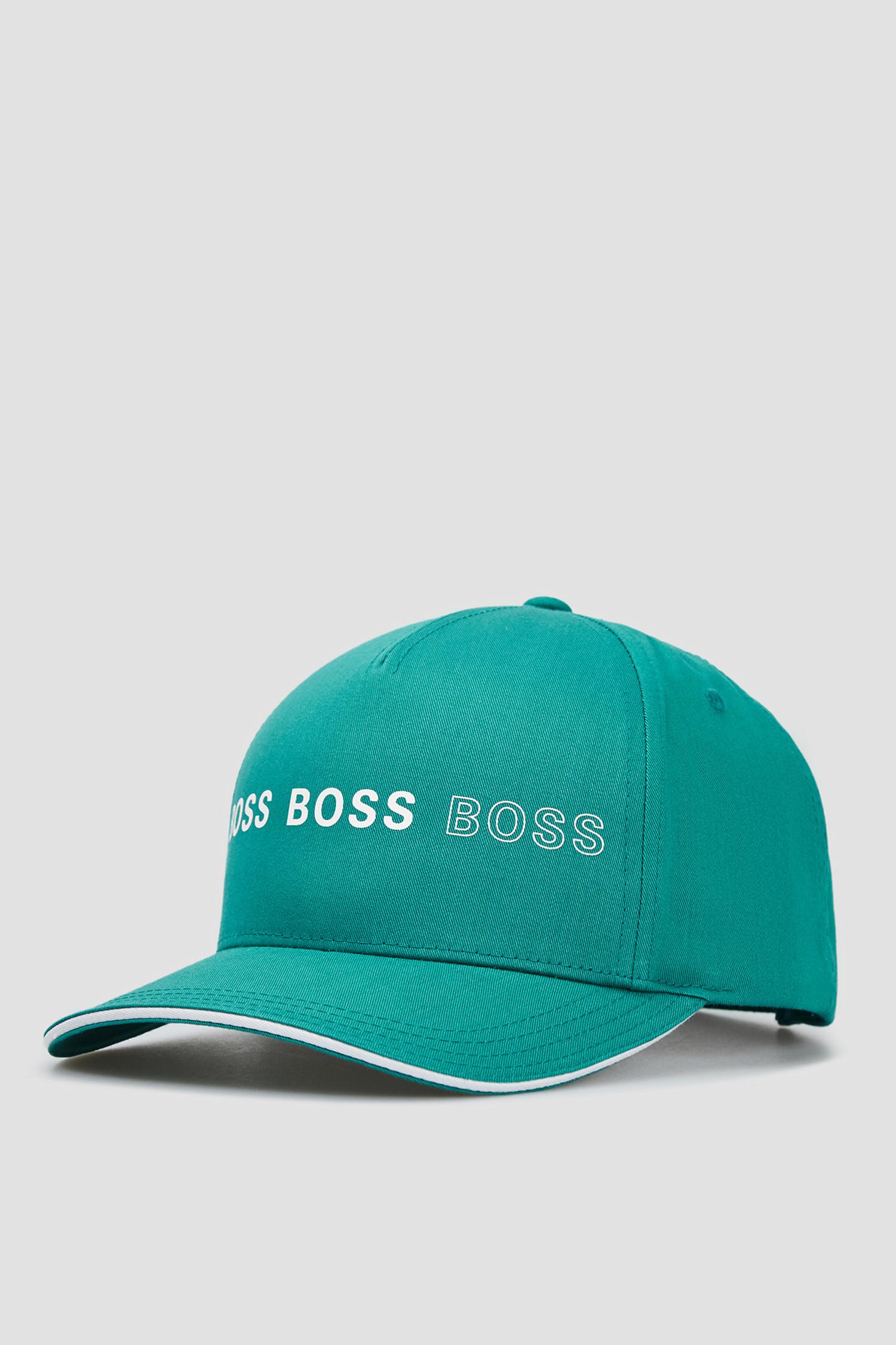 Чоловіча бірюзова кепка BOSS 50453213;447