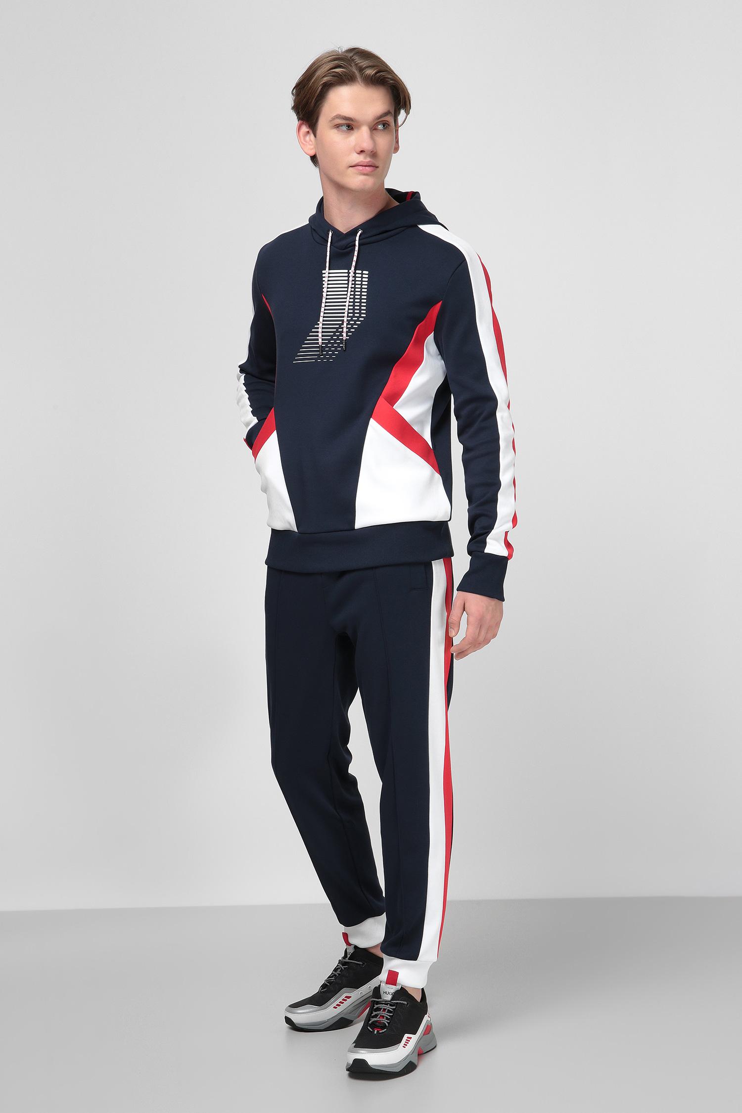 Темно-синие спортивные брюки для парней HUGO 50433823;405