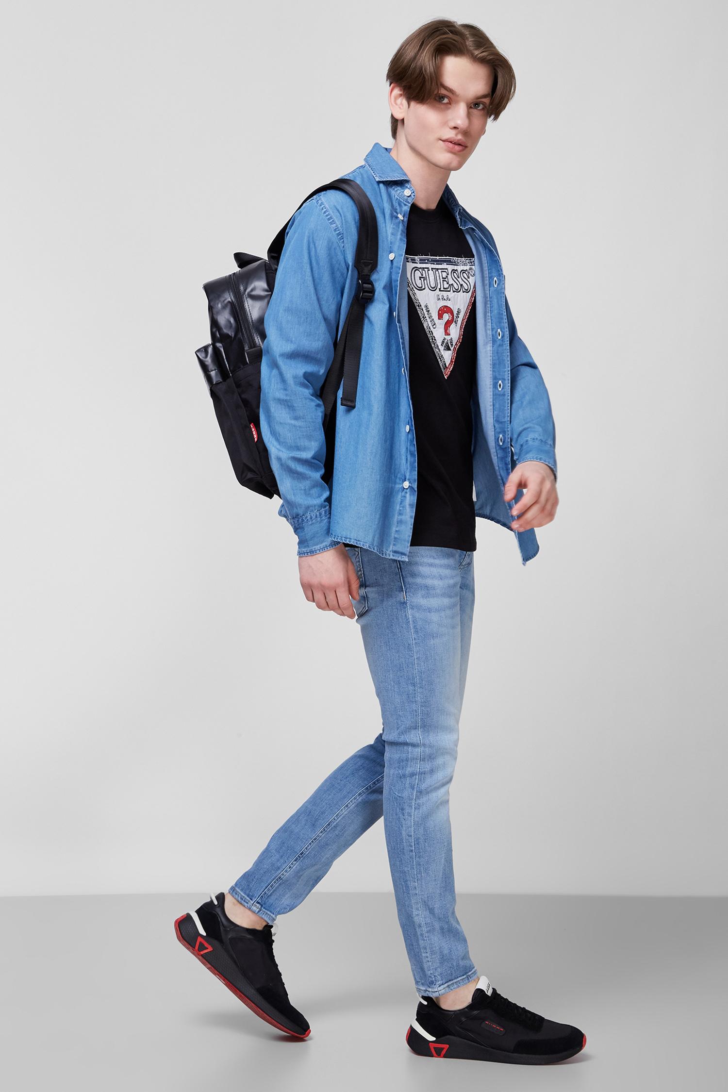 Голубая джинсовая рубашка для парней Guess M1GH54.D4DW1;JEWE