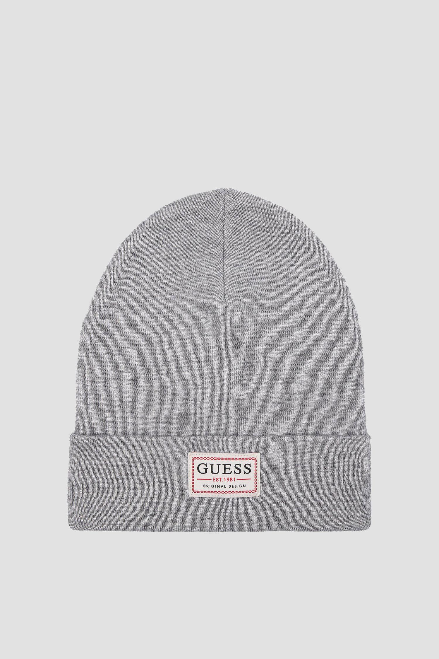 Мужская серая шапка Guess AM8731.WOL01;GRY