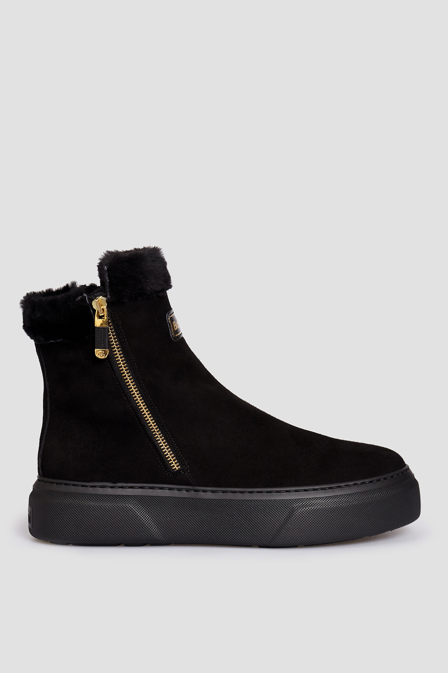 Женские черные замшевые ботинки Baldinini 148746CAMTR;00