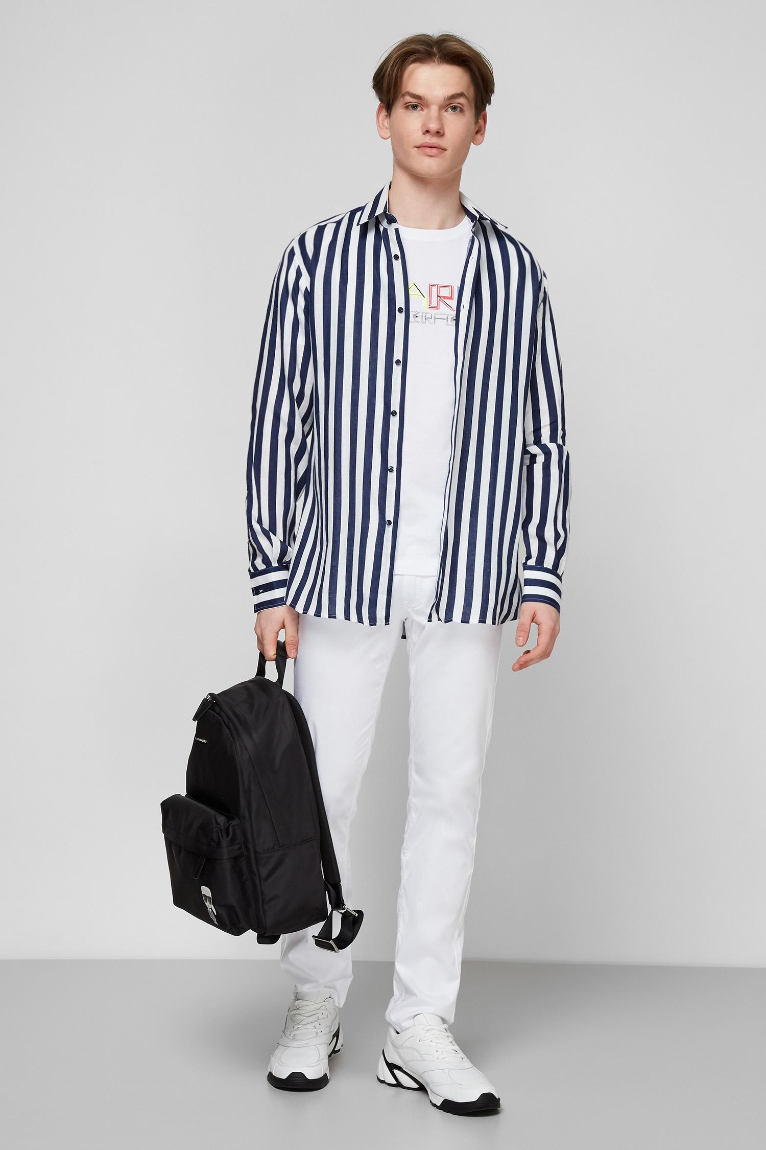Льняная рубашка в полоску для парней Karl Lagerfeld 511604.605000;690