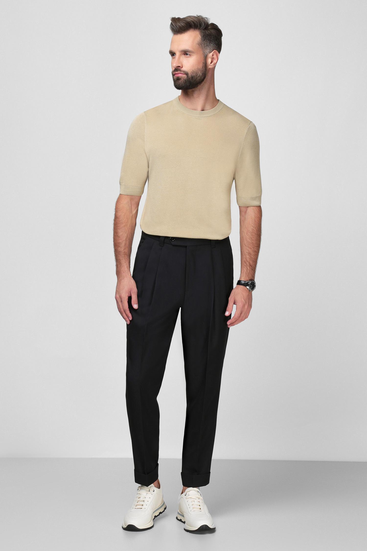Чоловічі чорні брюки BOSS 50459001;001