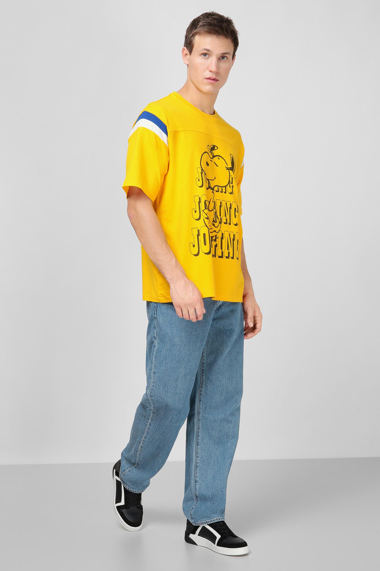 Мужская желтая футболка Levi's x Peanuts Levi's 23895;0004
