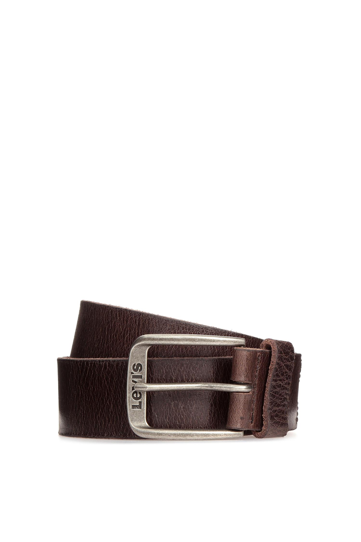 Мужской коричневый кожаный ремень Levi's 223850;4.29