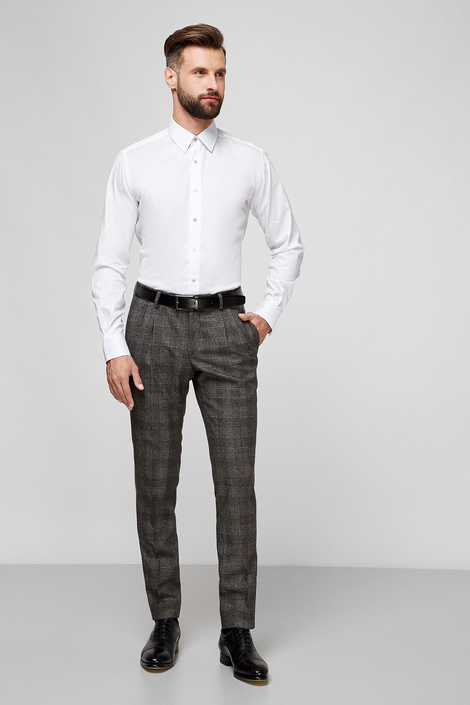 Мужские серые брюки в клетку Karl Lagerfeld 502065.255022;410