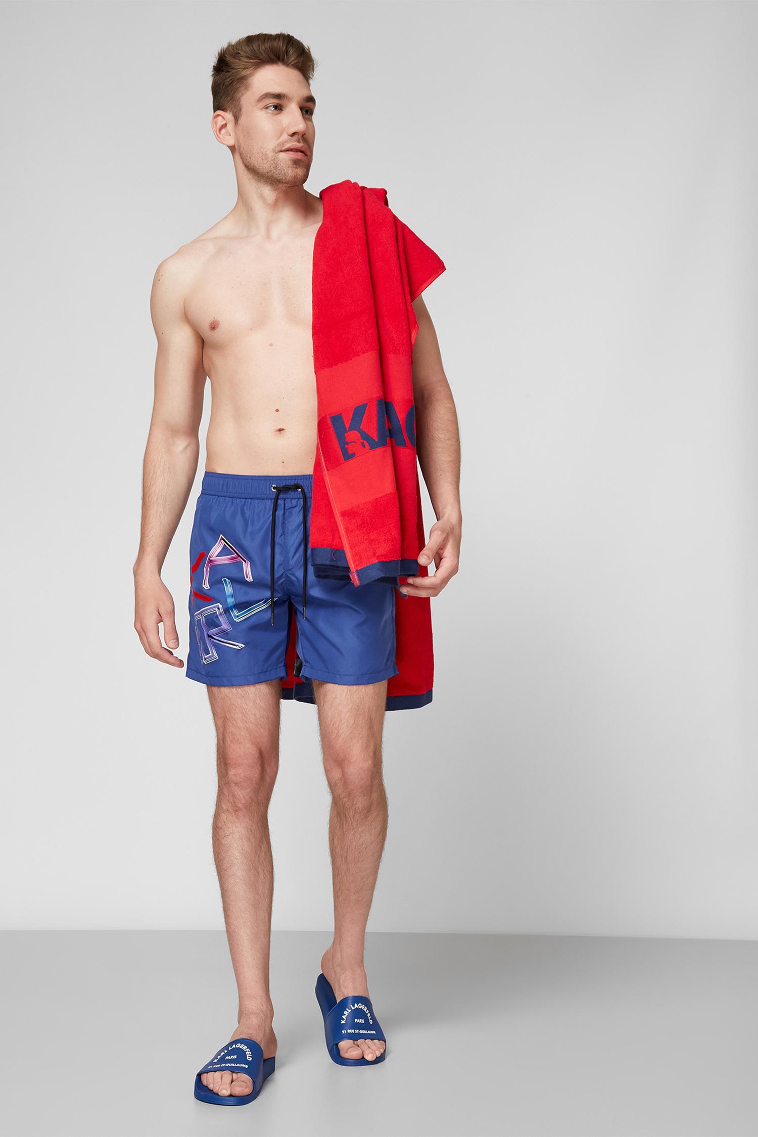 Мужские синие плавательные шорты Karl Lagerfeld KL21MBM04;NAVY