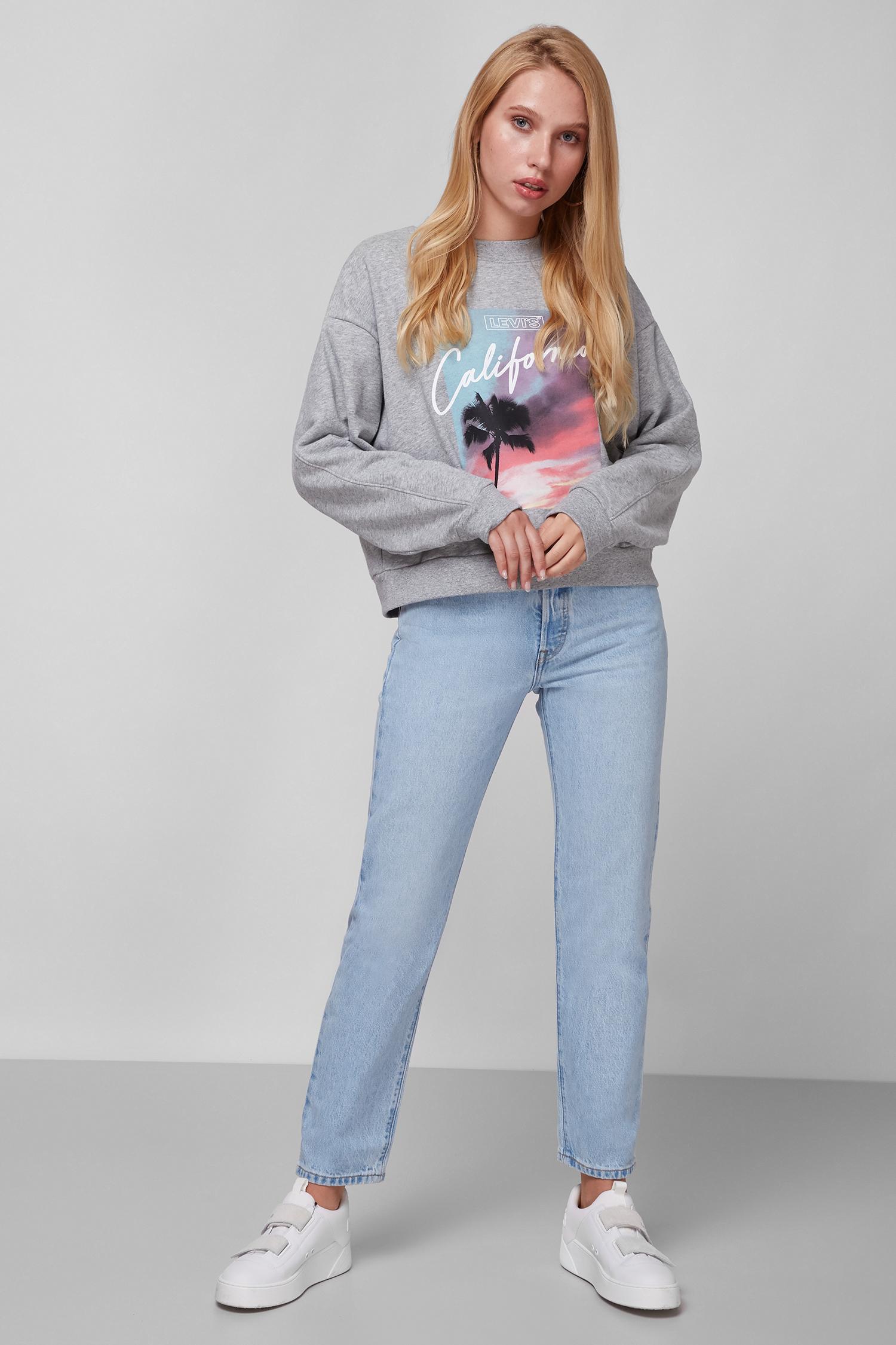 Женские голубые джинсы 501 Original Cropped Levi's 36200;0124
