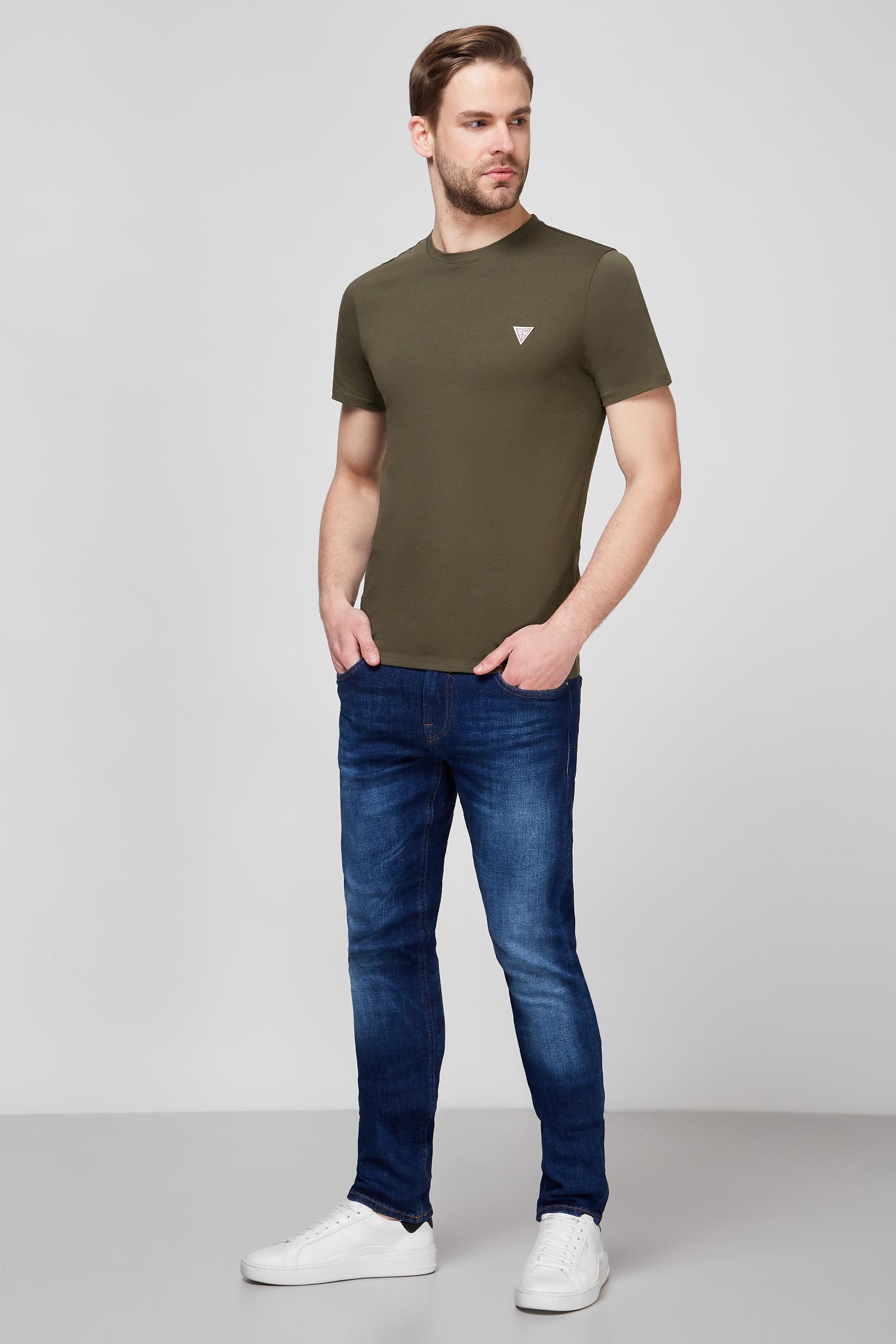 Мужская зеленая футболка Guess M1RI36.I3Z11;G8F6