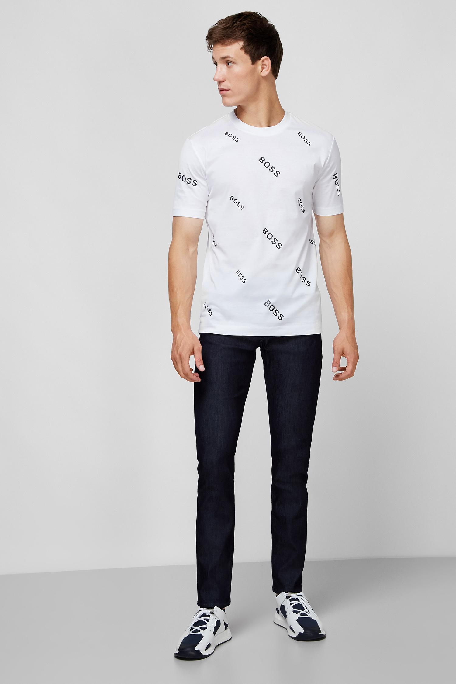 Мужская белая футболка BOSS 50435774;100