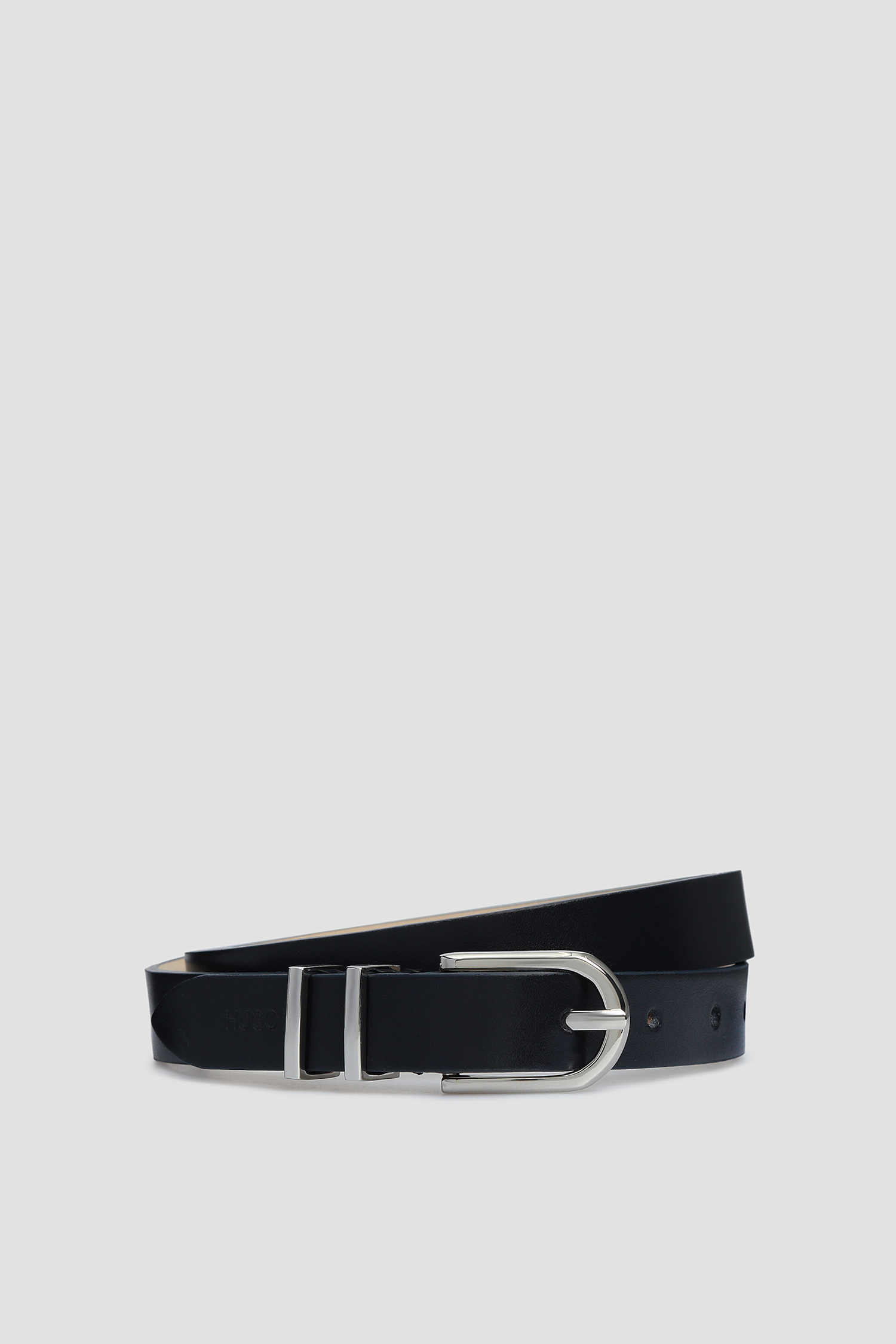 Женский темно-синий кожаный ремень HUGO 50391313;402