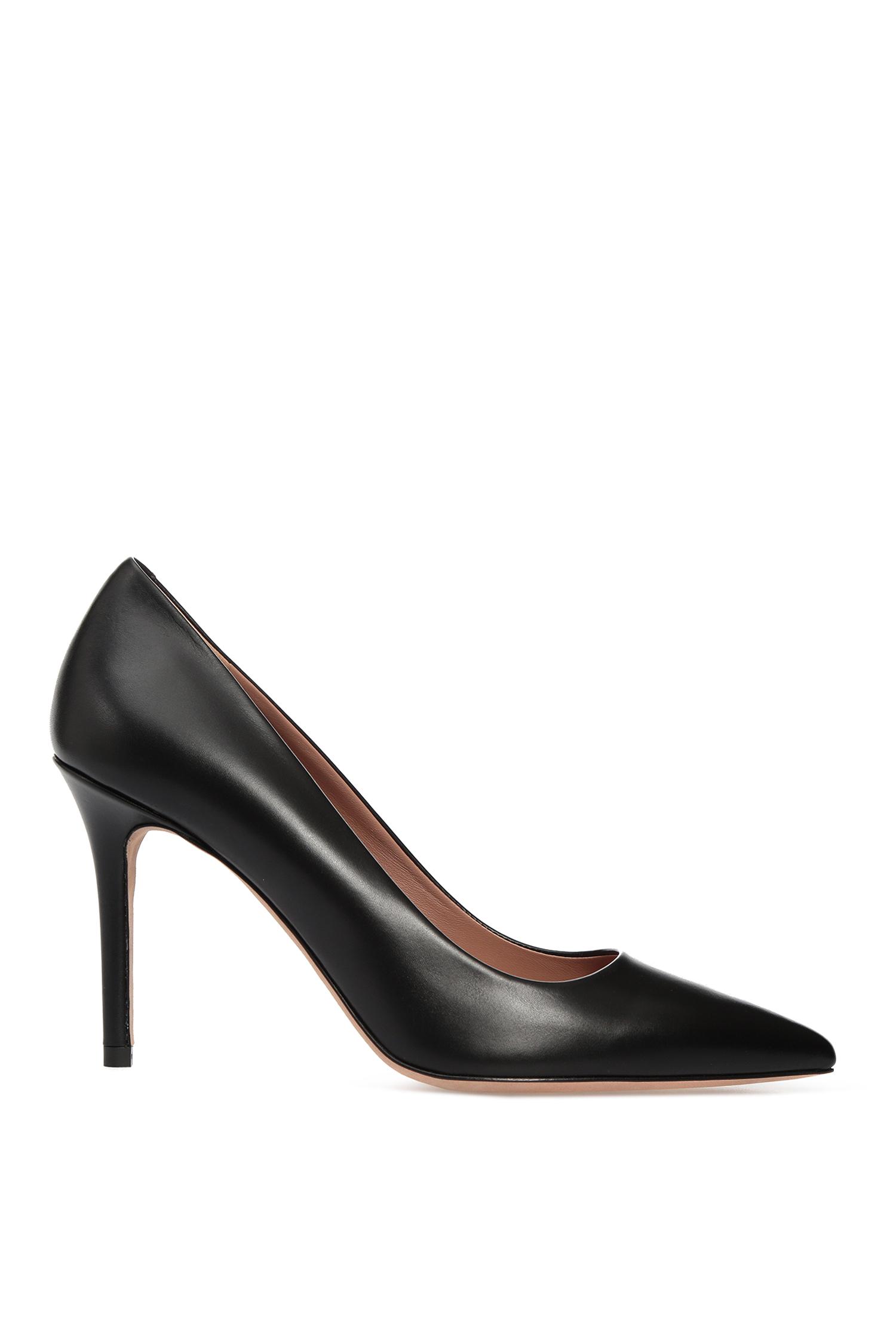 Женские черные кожаные лодочки BOSS 50380934;001