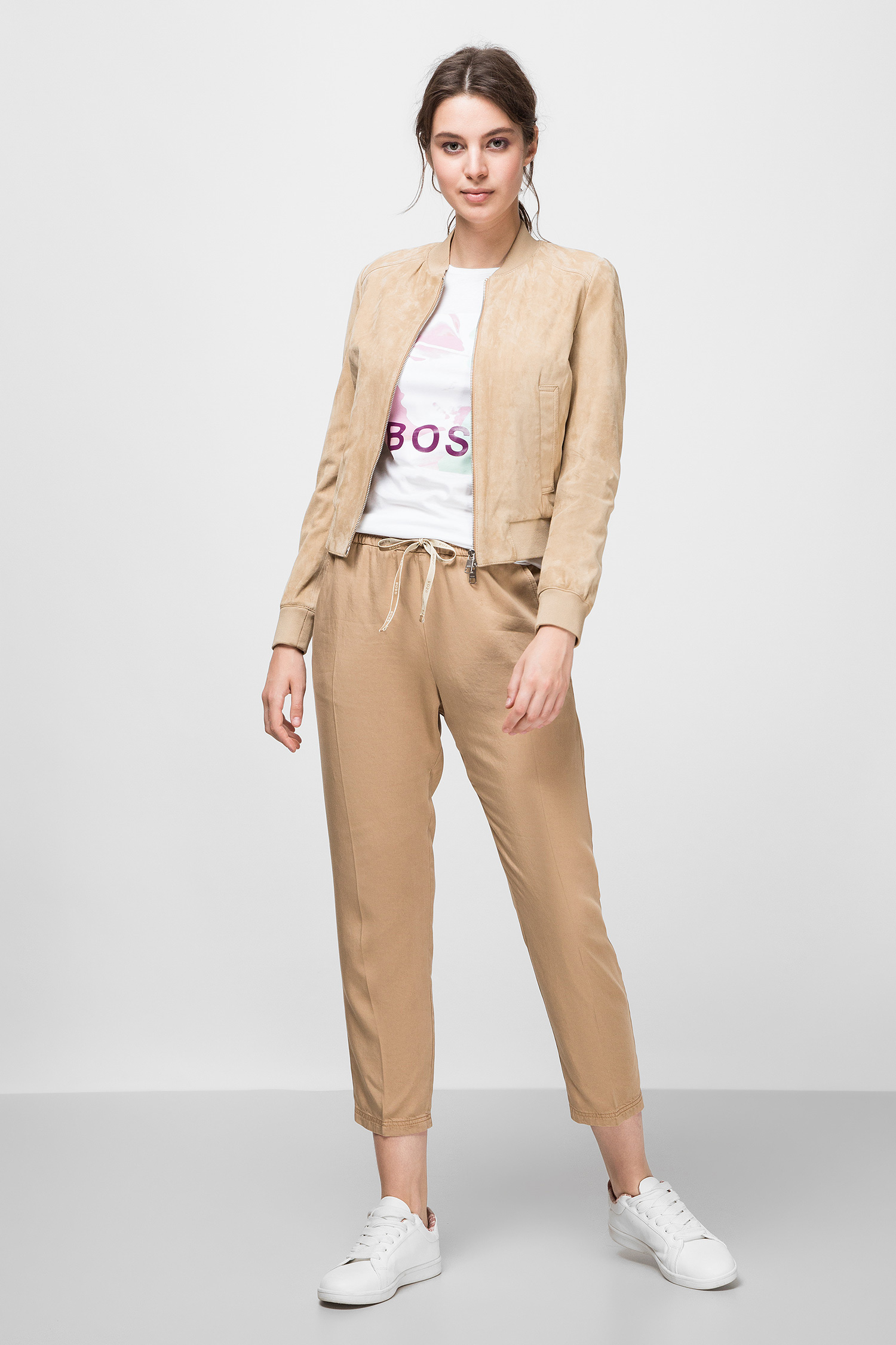 Женская белая футболка BOSS 50434466;100