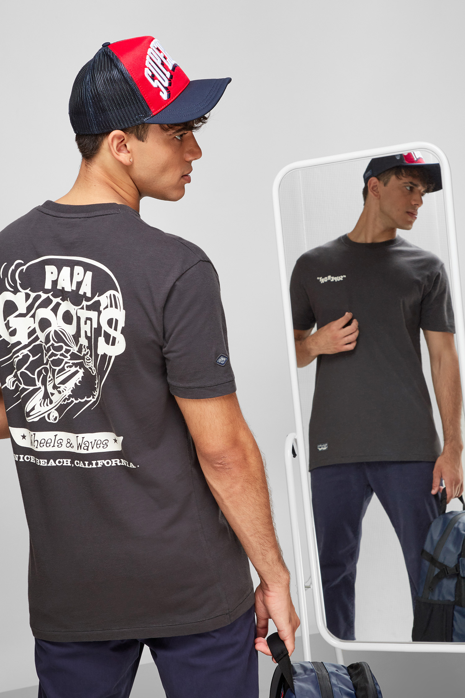 Чоловіча чорна футболка SuperDry M1010859A;AFB