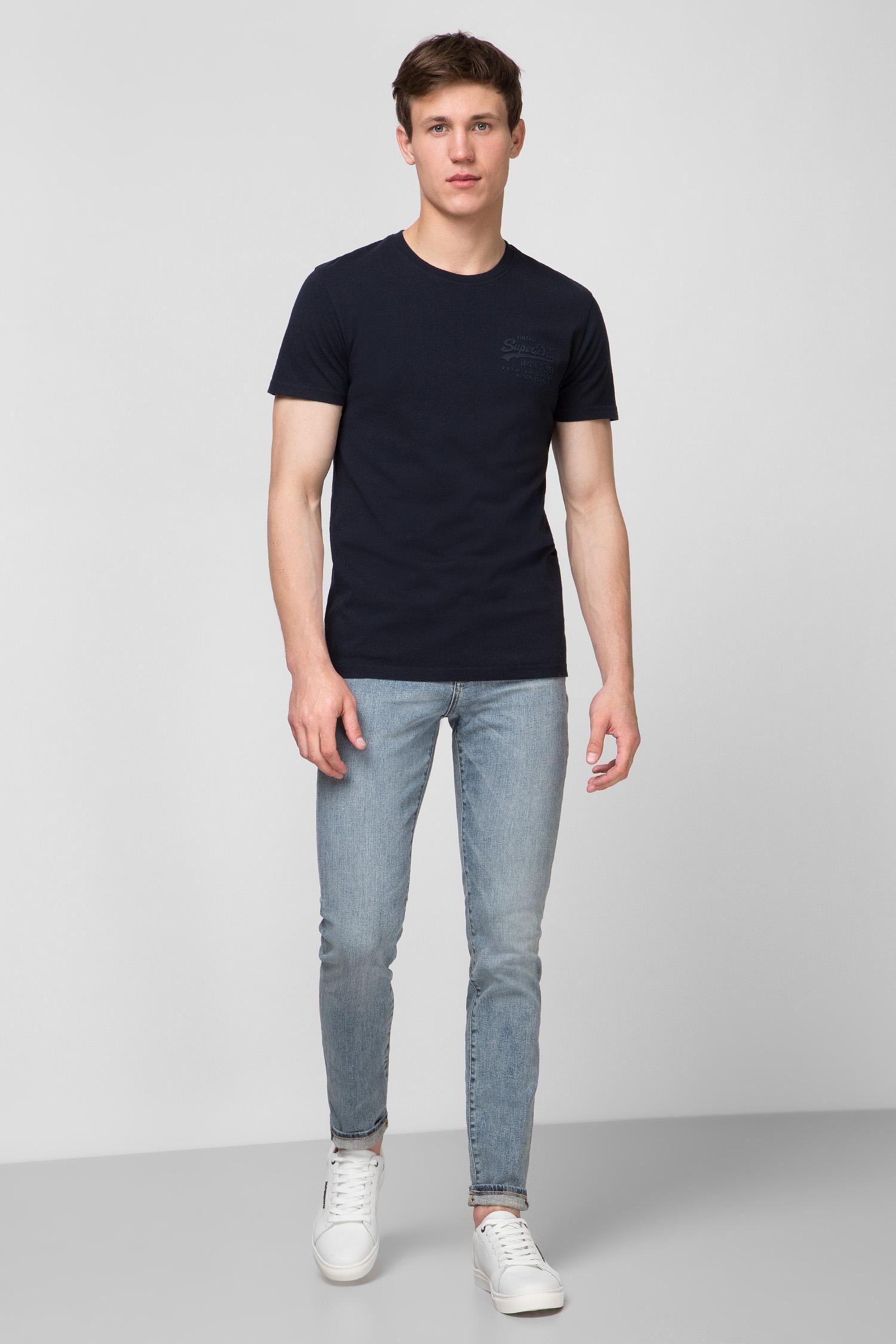 Мужская темно-синяя футболка SuperDry M1010067A;98T