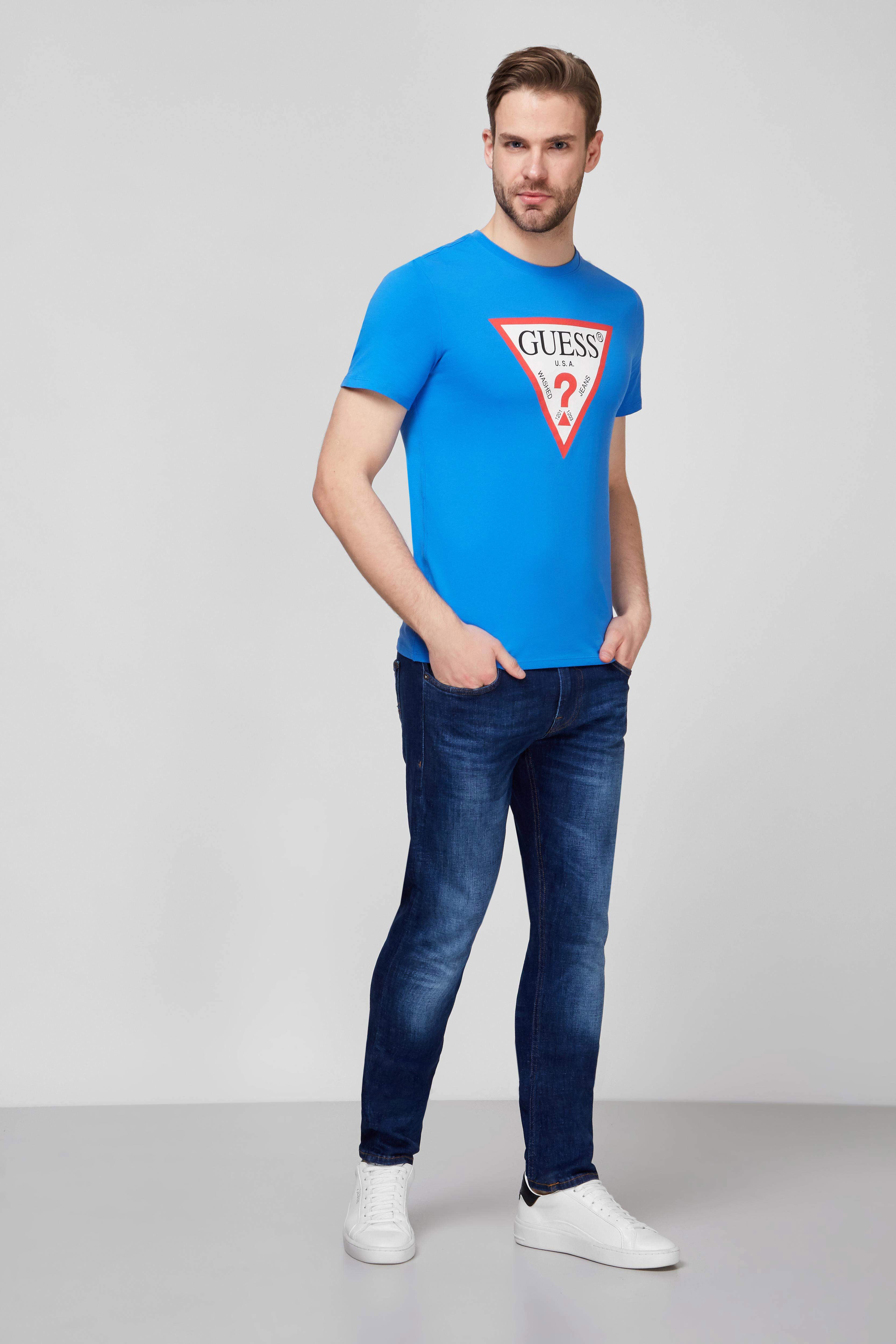 Мужская синяя футболка Guess M1RI71.I3Z11;G7DQ