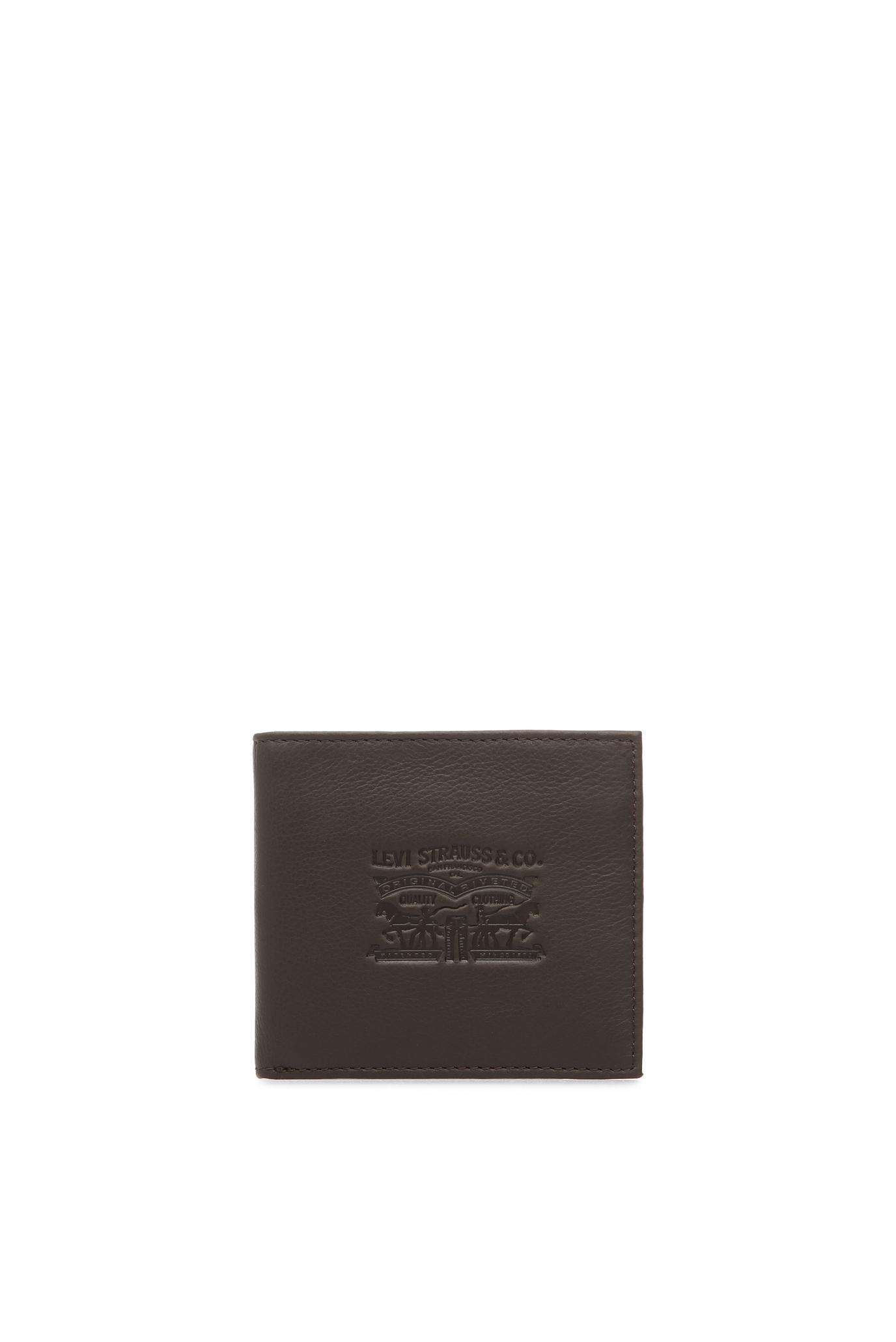 Мужской коричневый кожаный кошелек Levi's 222539;4.29