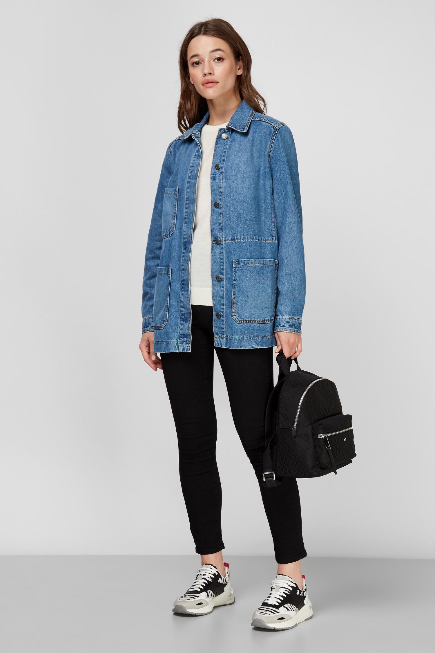 Женская синяя джинсовая куртка BOSS 50453844;425