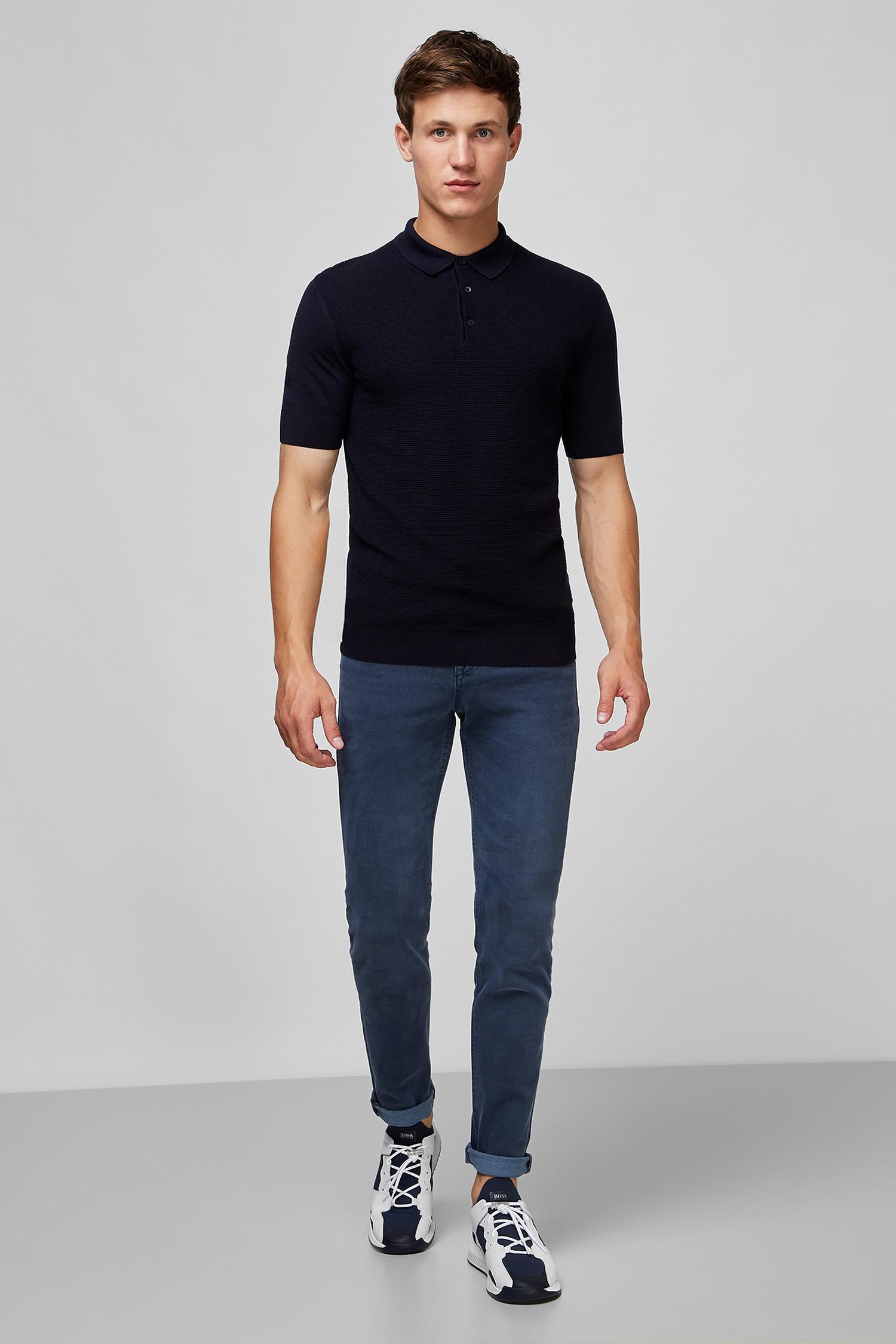 Мужские темно-синие джинсы BOSS 50432468;425