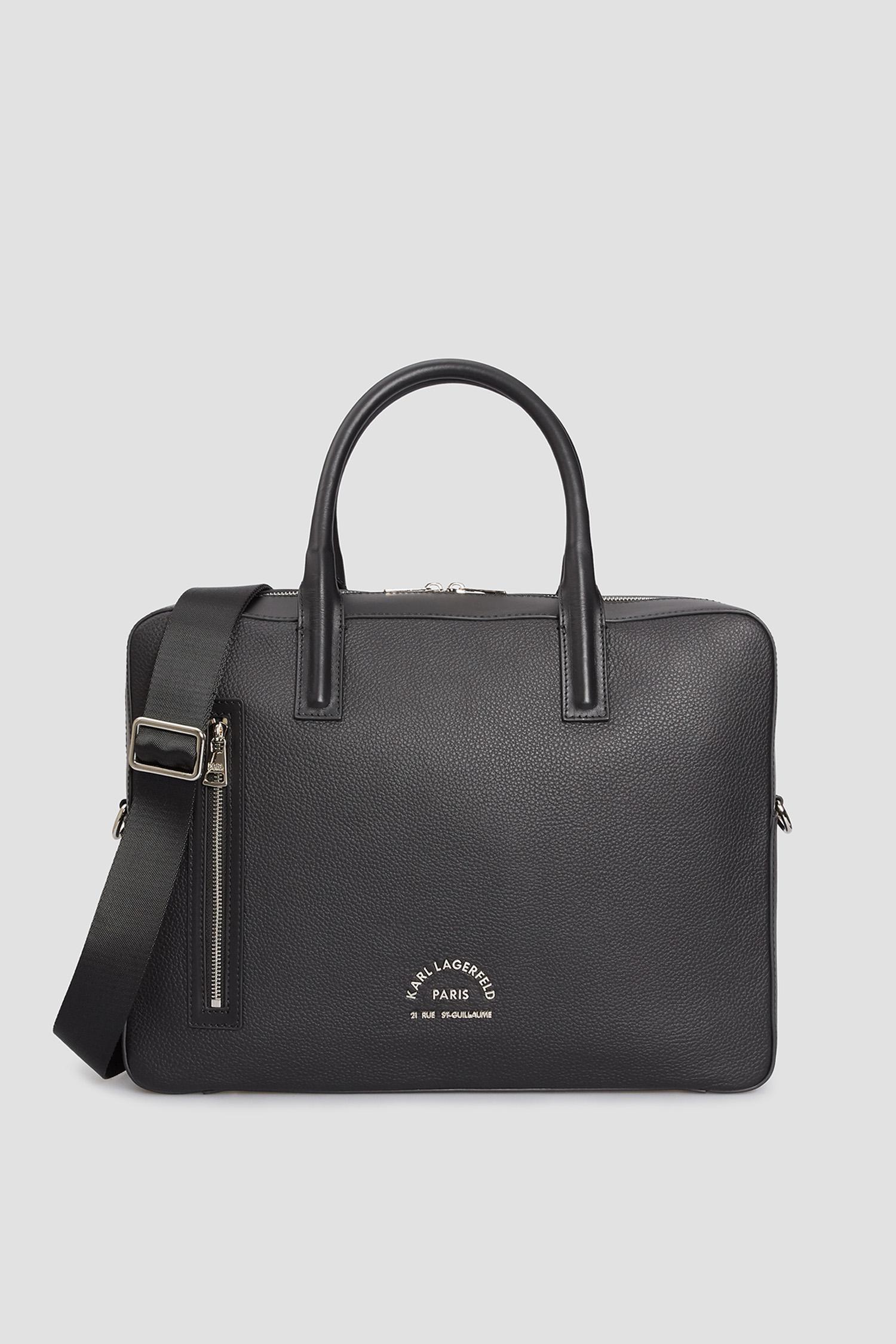 Чоловіча чорна шкіряна сумка для ноутбука Karl Lagerfeld 511451.815902;990
