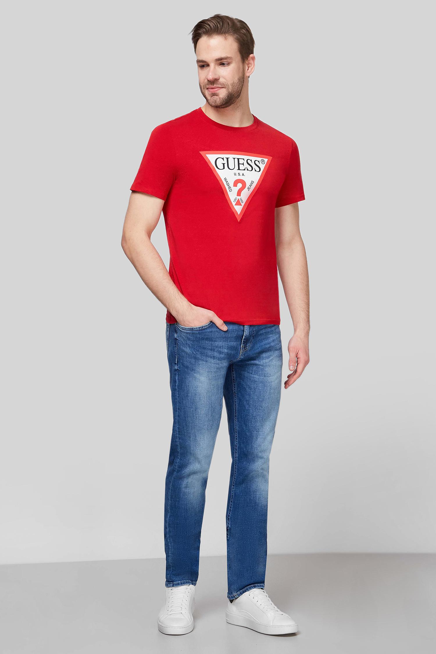 Мужская красная футболка Guess M1RI71.I3Z11;TLRD