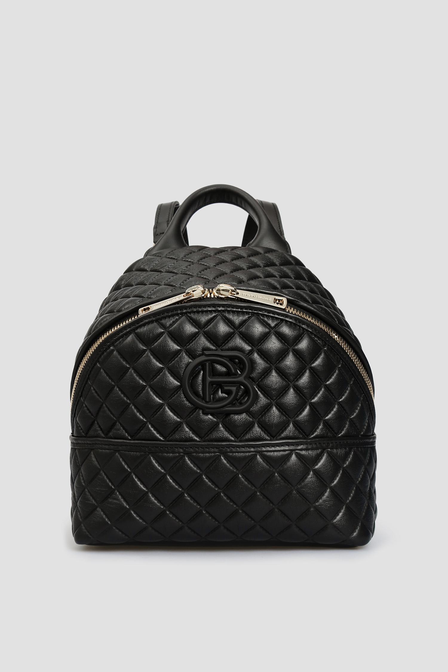 Женский черный кожаный рюкзак Baldinini 170122;00