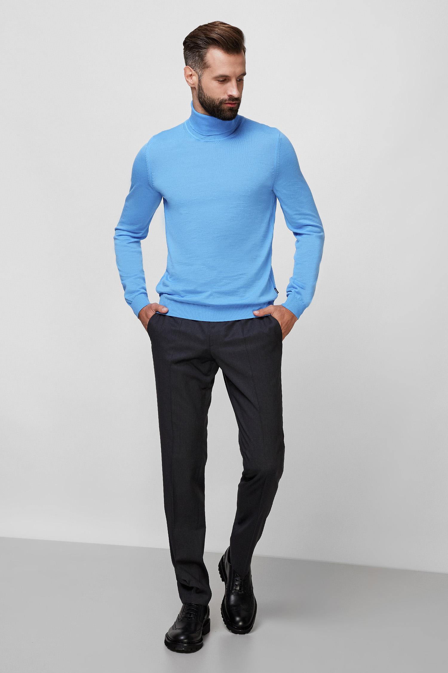 Чоловічі темно-сірі вовняні брюки BOSS 50318499;021