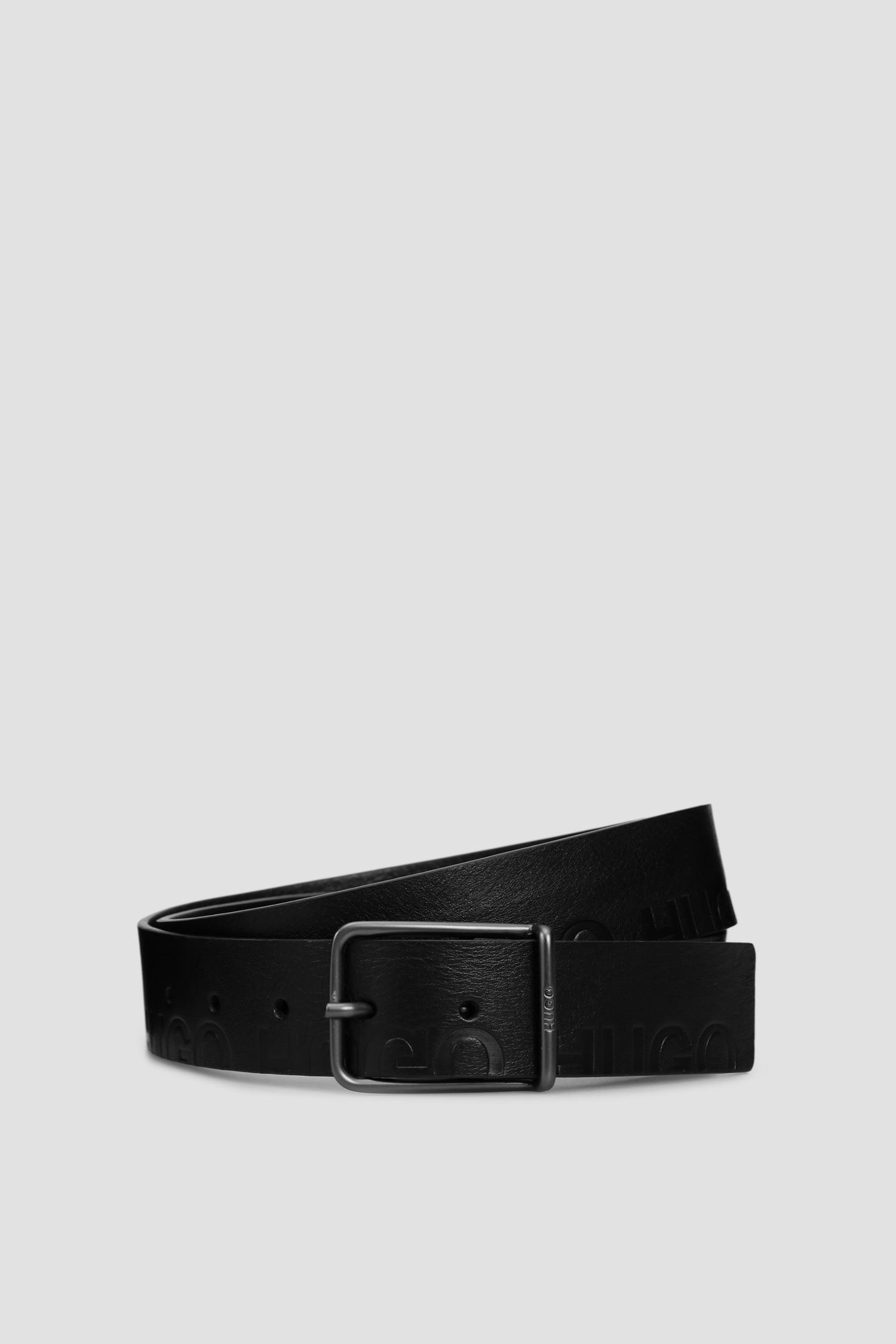 Мужской черный кожаный ремень HUGO 50435361;001