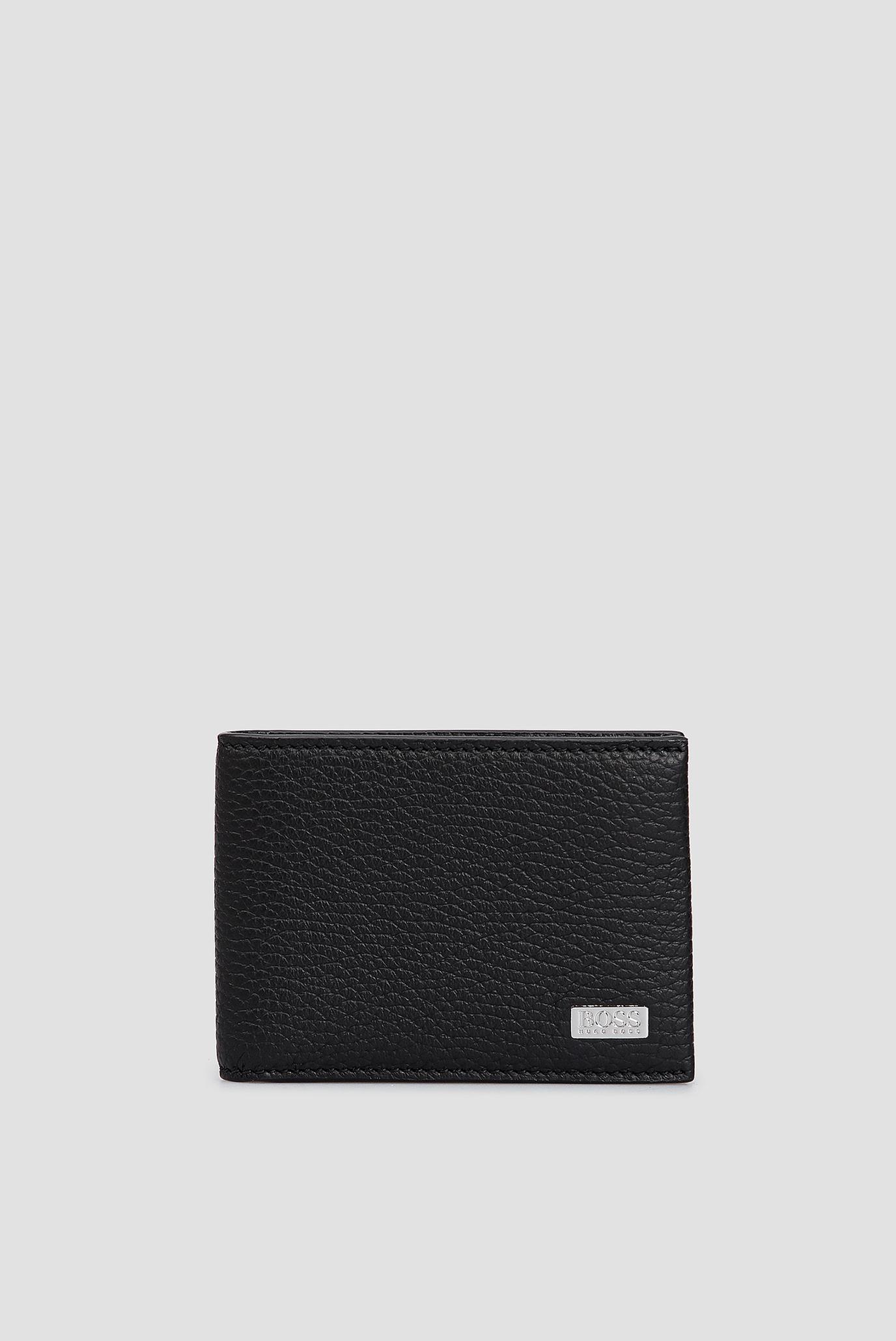Мужской черный кожаный кошелек BOSS 50390404;001