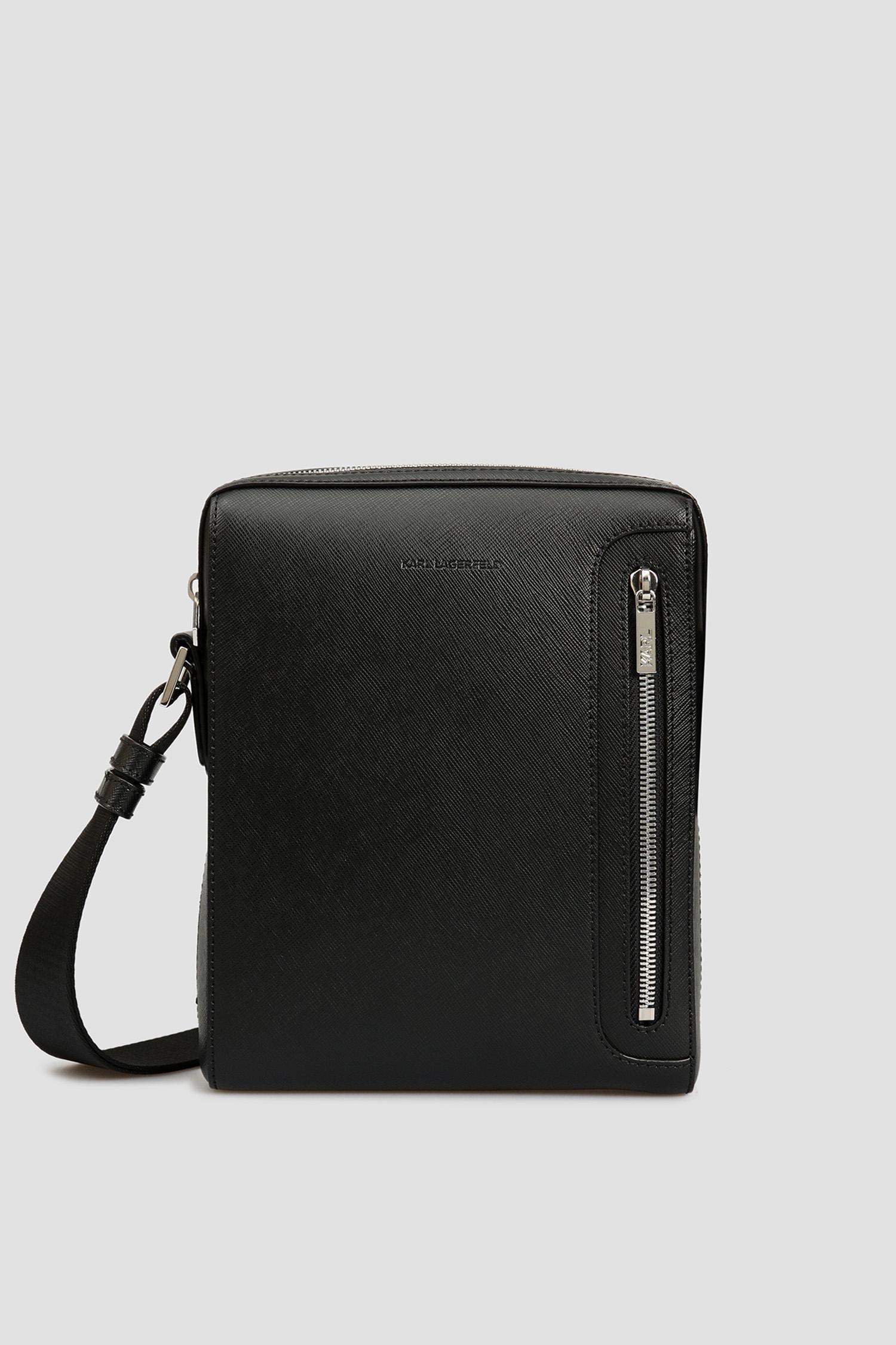 Чоловіча чорна шкіряна сумка через плече Karl Lagerfeld 502461.815409;990