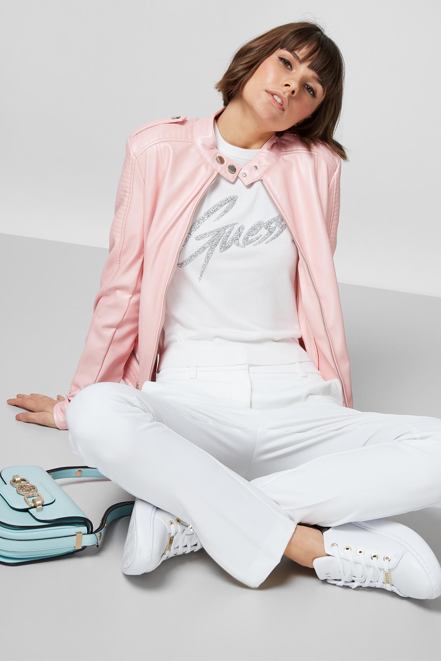 Женская пудровая куртка Guess W1GL17.WDTZ0;G64O