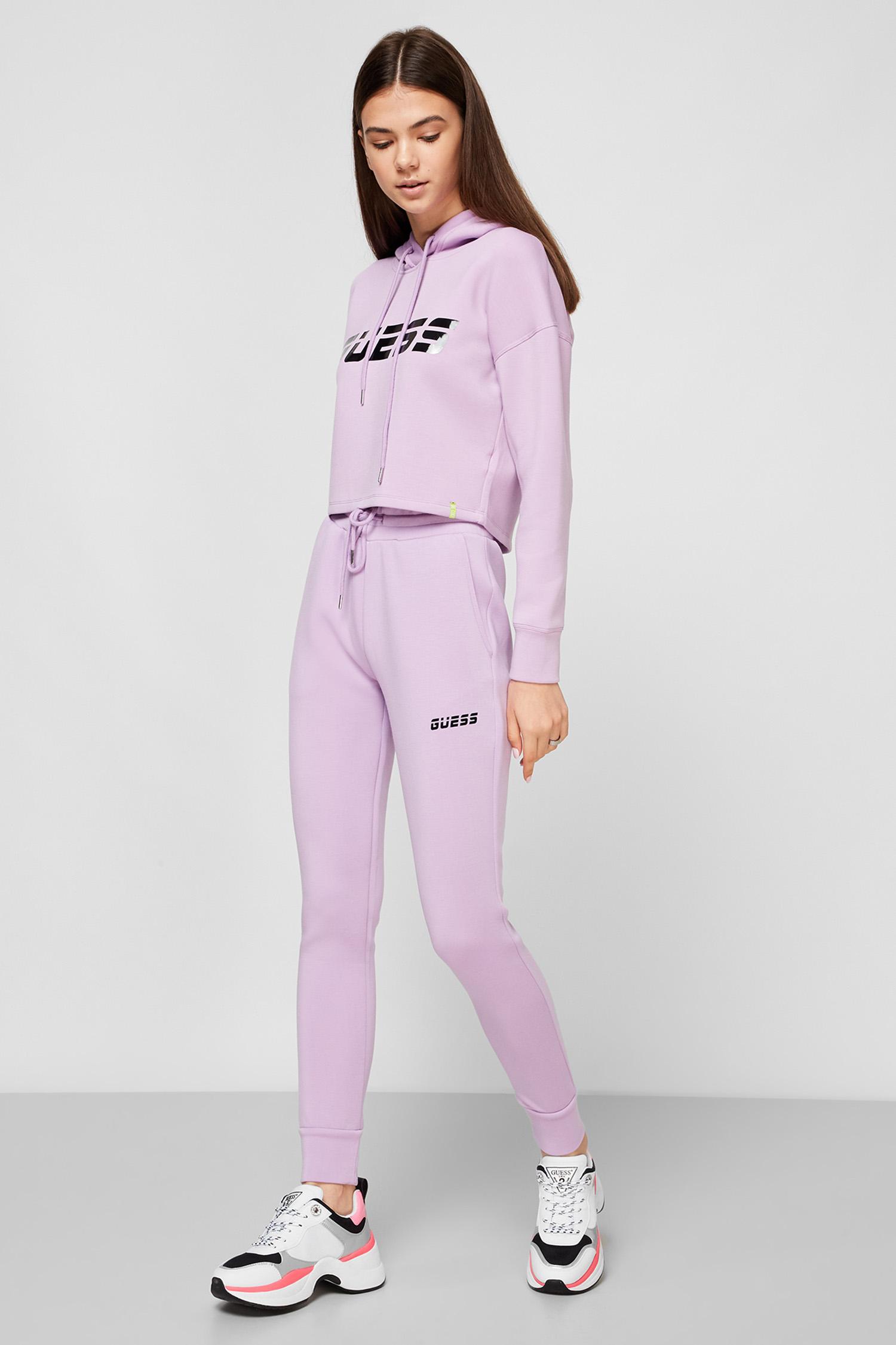 Сиреневые спортивные брюки для девушек Guess O0BA57.K7UW0;G4G8