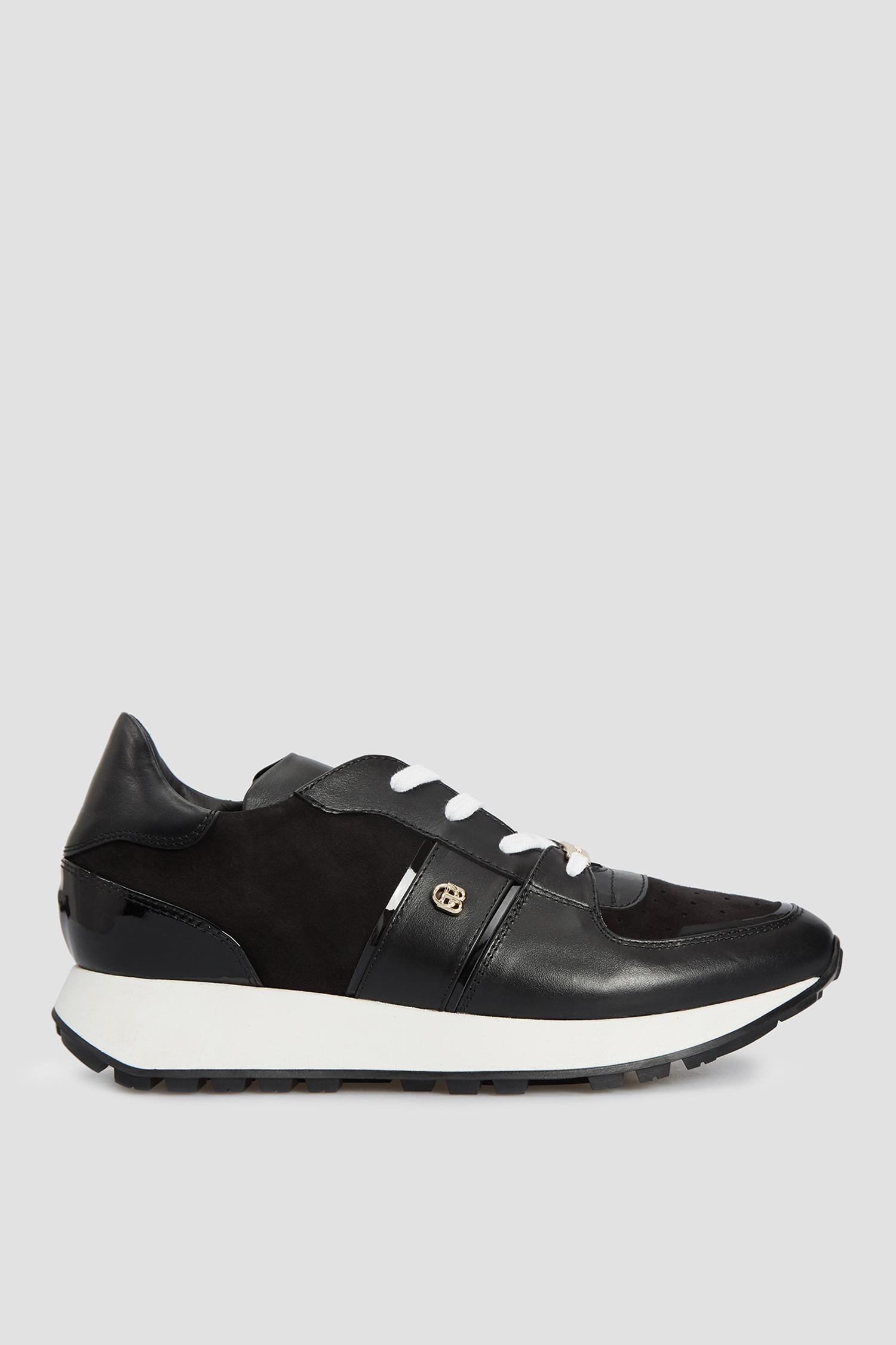 Женские черные кожаные кроссовки Baldinini D2B780VICS;NENE