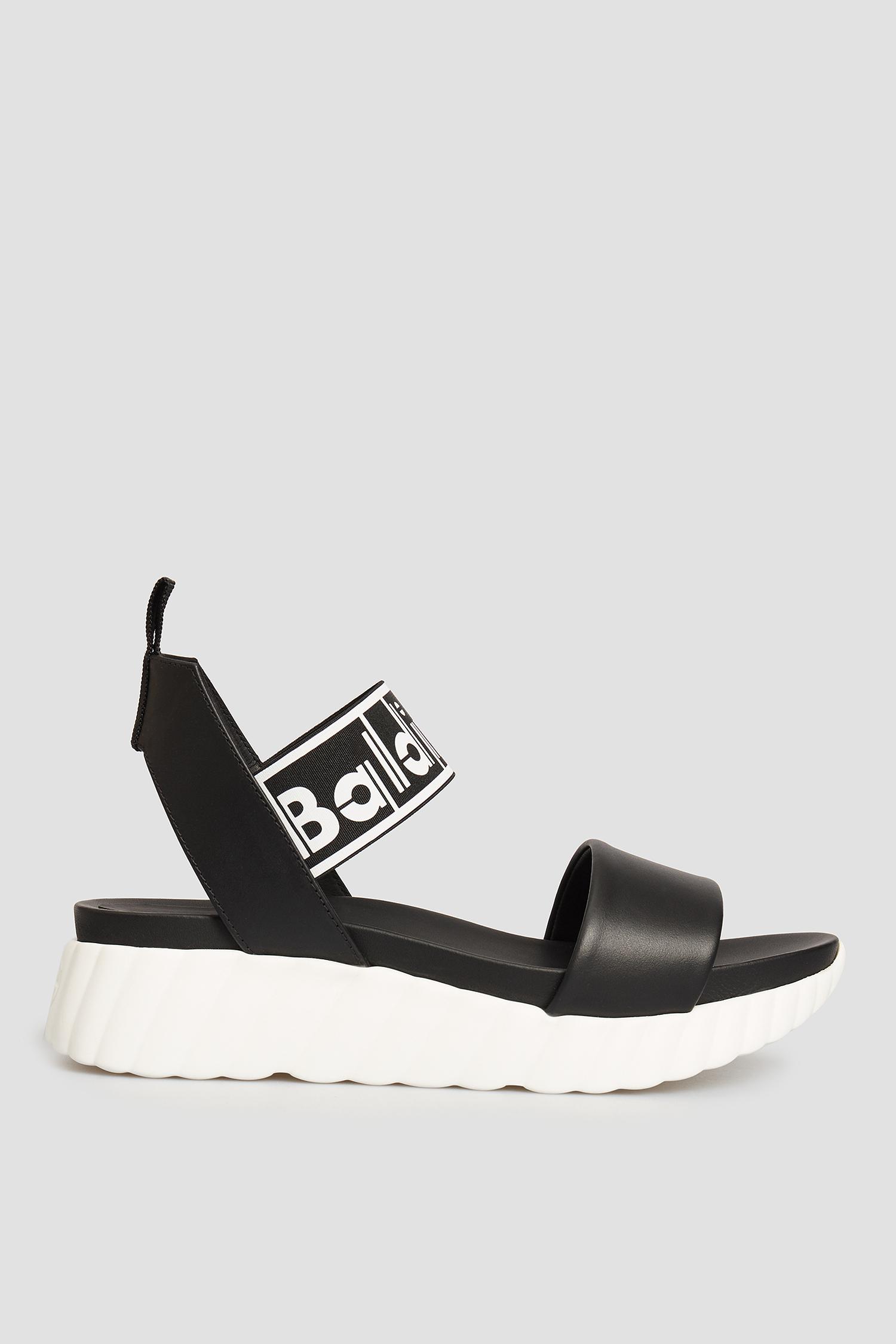Черные кожаные сандалии для девушек Baldinini 199015;00