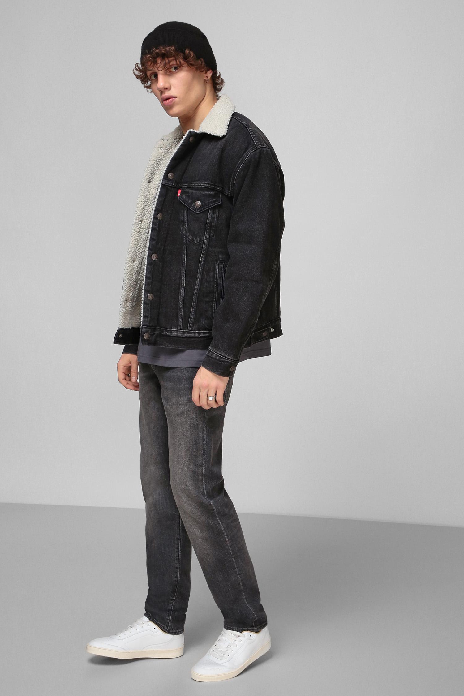 Мужская черная джинсовая куртка Levi's 79129;0007