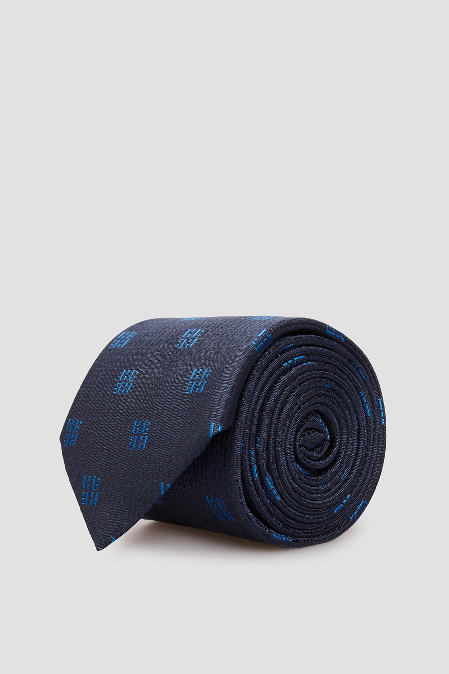 Темно-синя шовкова краватка для хлопців BOSS 50434379;404