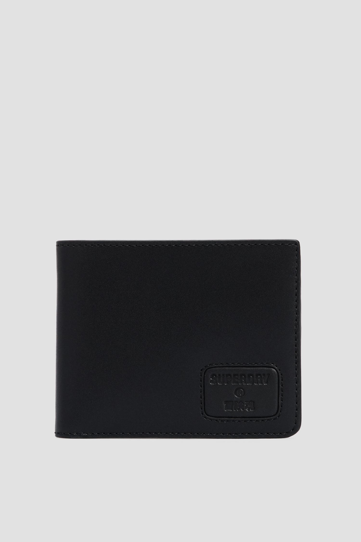 Черный кожаный кошелек для парней SuperDry M9810144A;02A