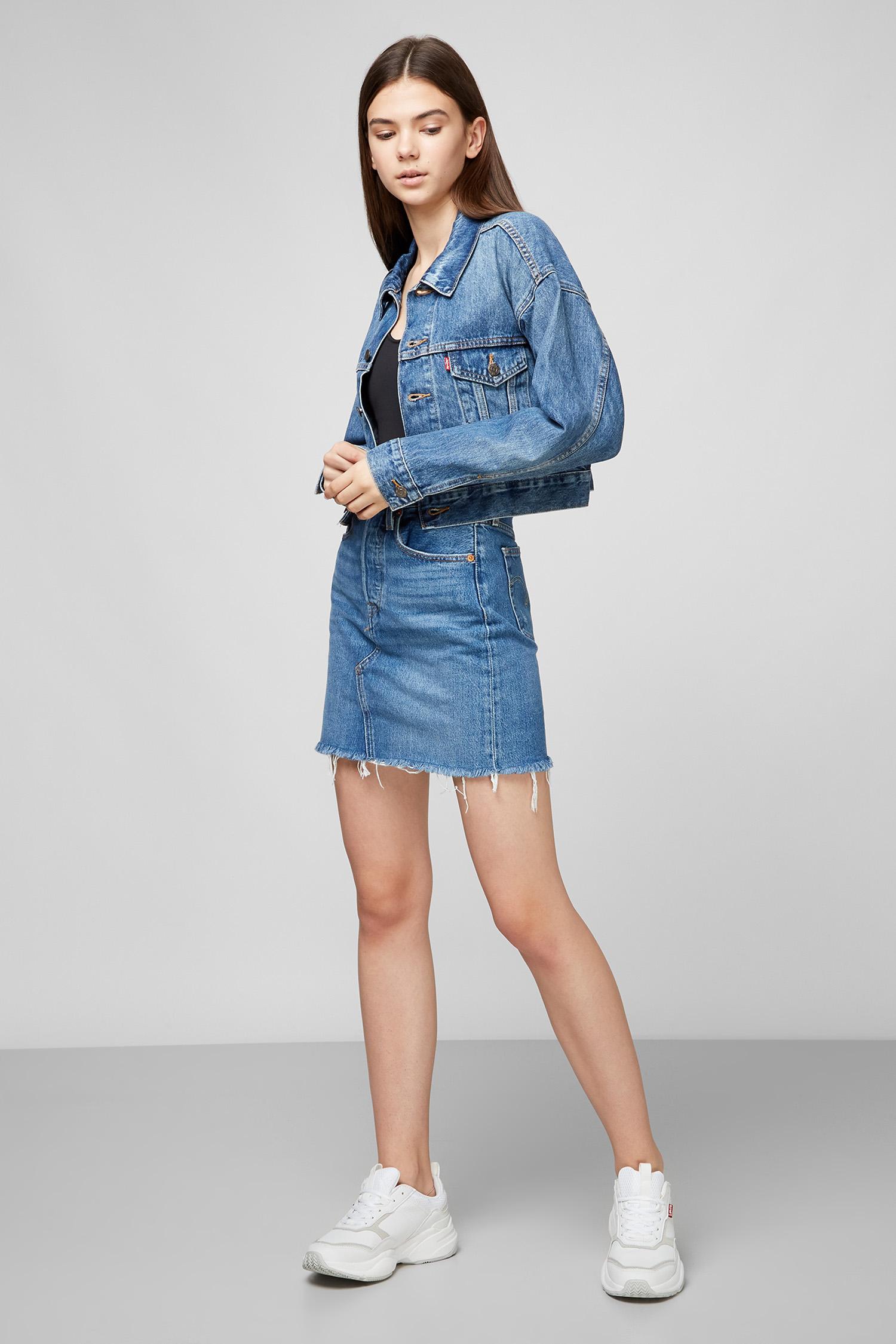 Синяя джинсовая юбка High-Rise Deconstructed Skirt для девушек Levi's 77882;0020