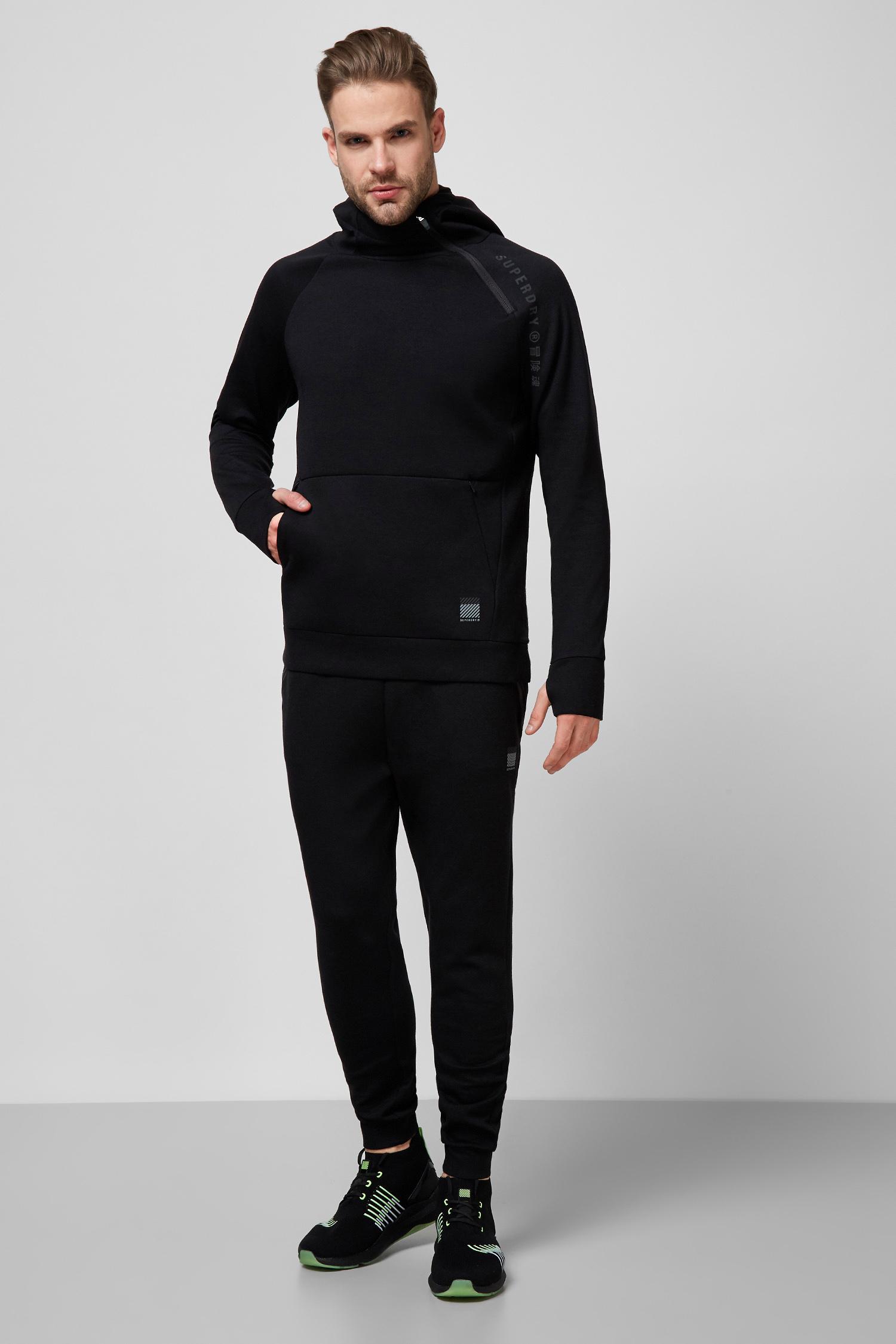 Мужское черное худи SuperDry MS310256A;02A