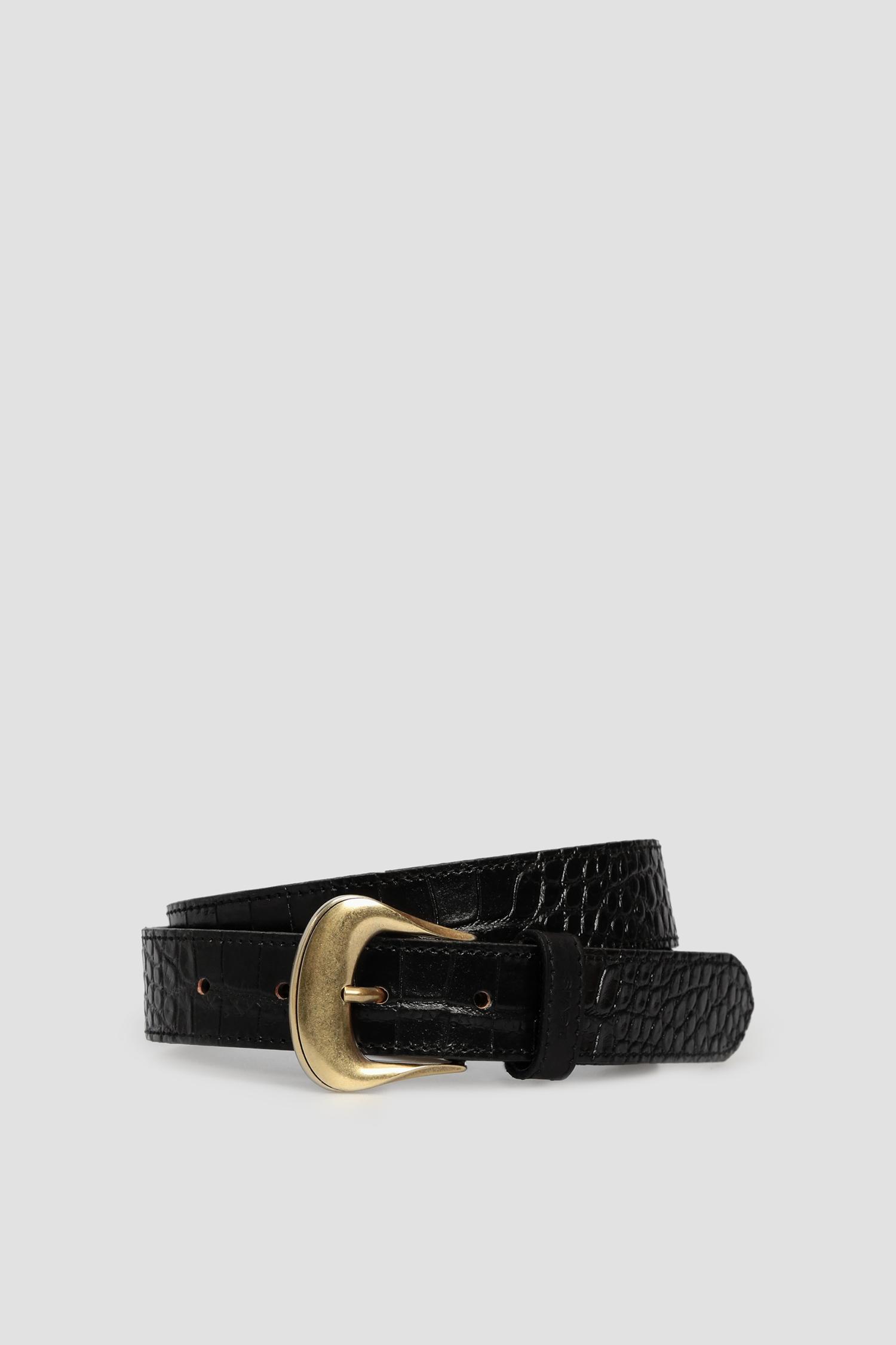 Женский черный кожаный ремень Levi's 232389;3.59