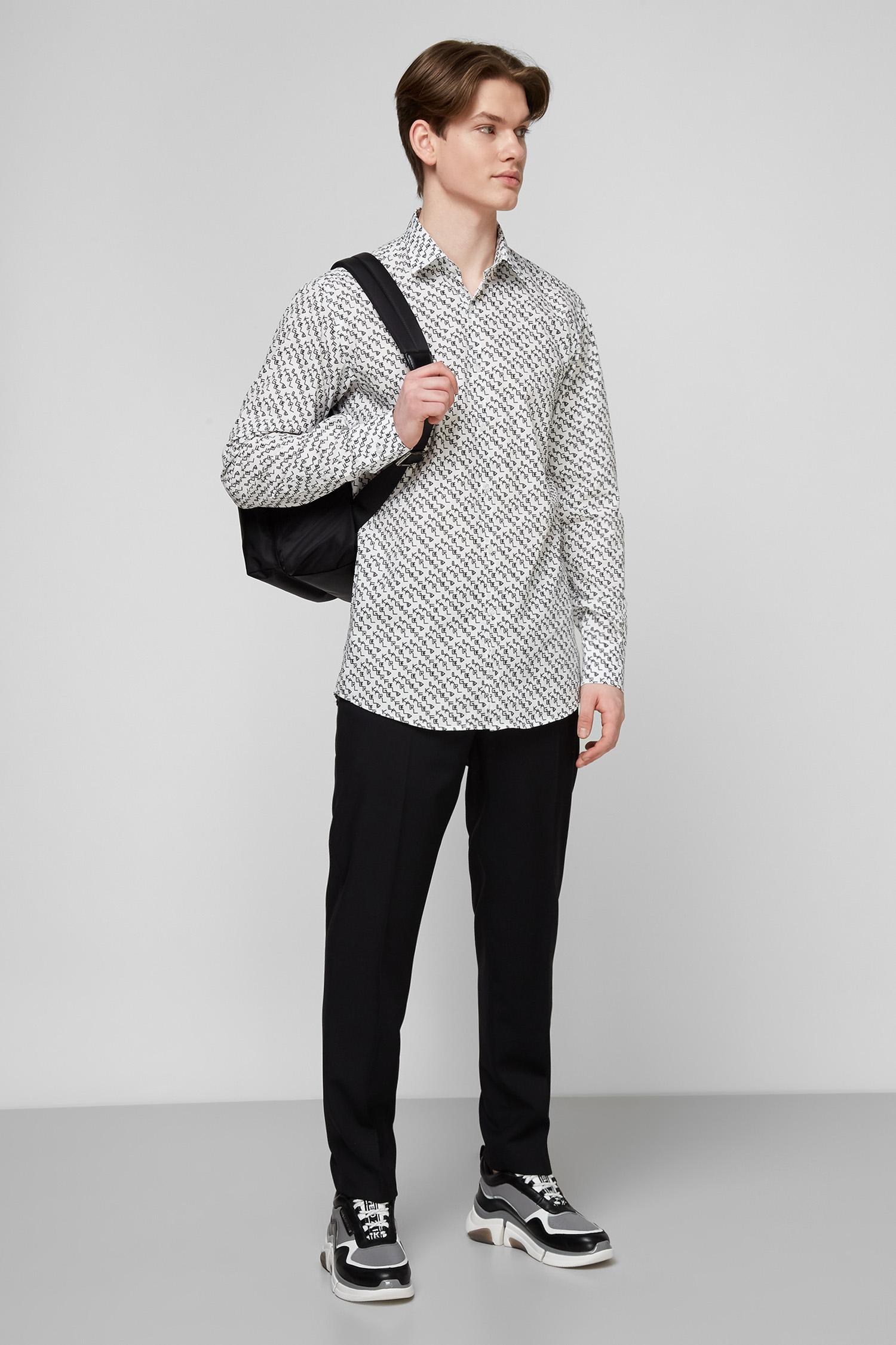 Белая рубашка с принтом для парней Karl Lagerfeld 511650.605003;10