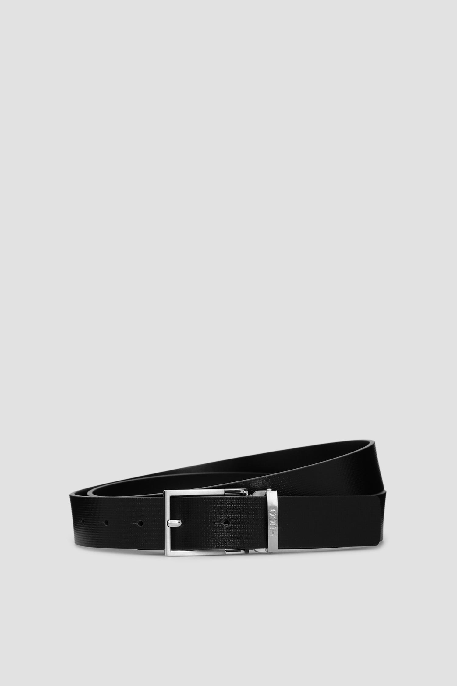 Черный кожаный ремень для парней HUGO 50434613;001