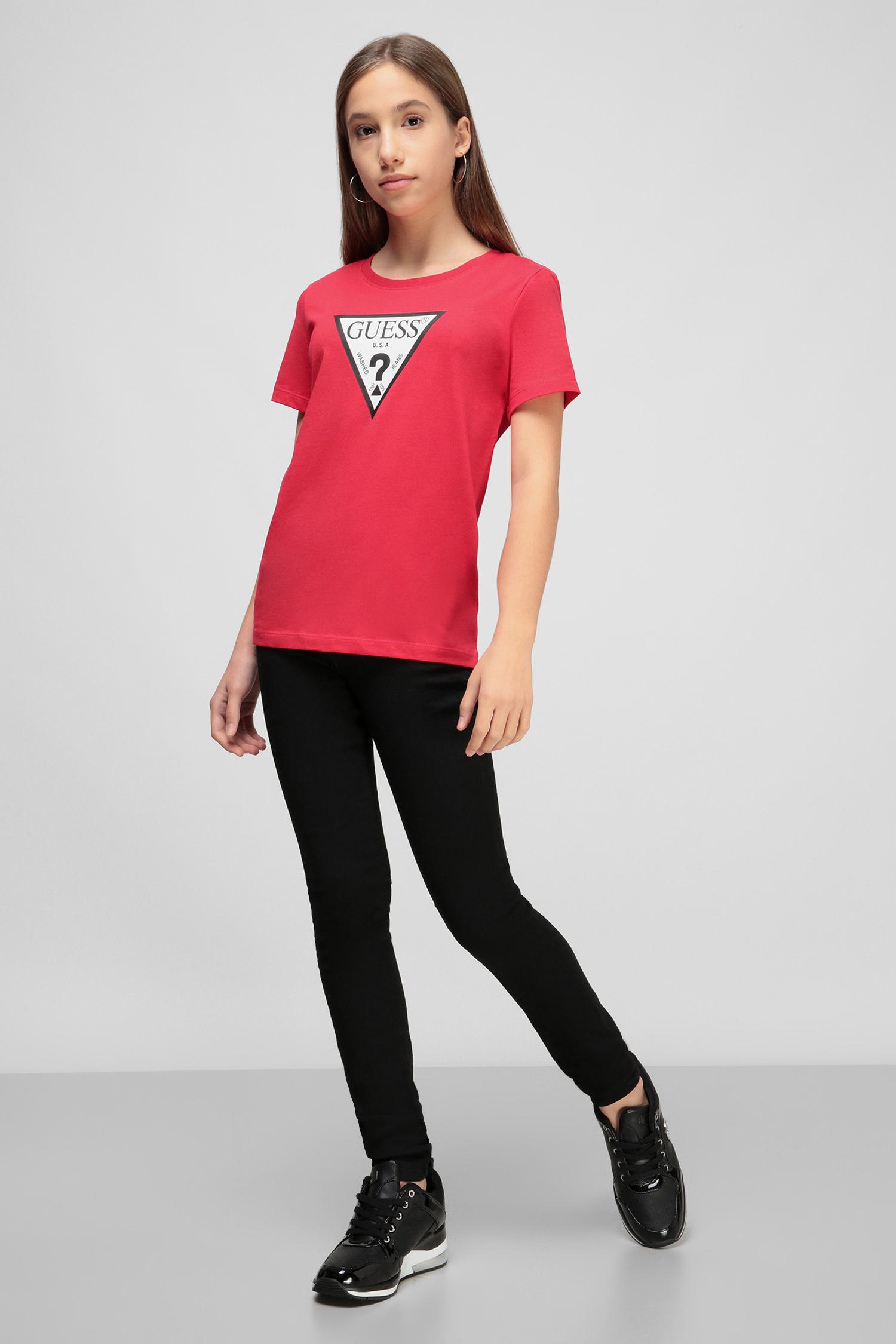 Красная футболка для девушек Guess W0BI25.I3Z11;G5F0