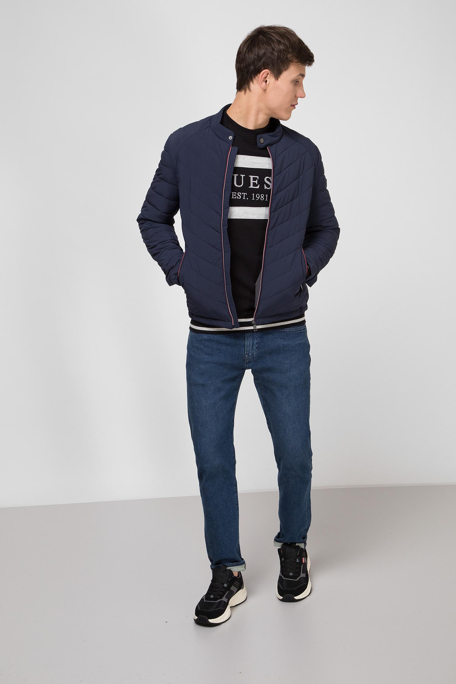 Мужская темно-синяя куртка Guess M01L05.WCOG0;G720