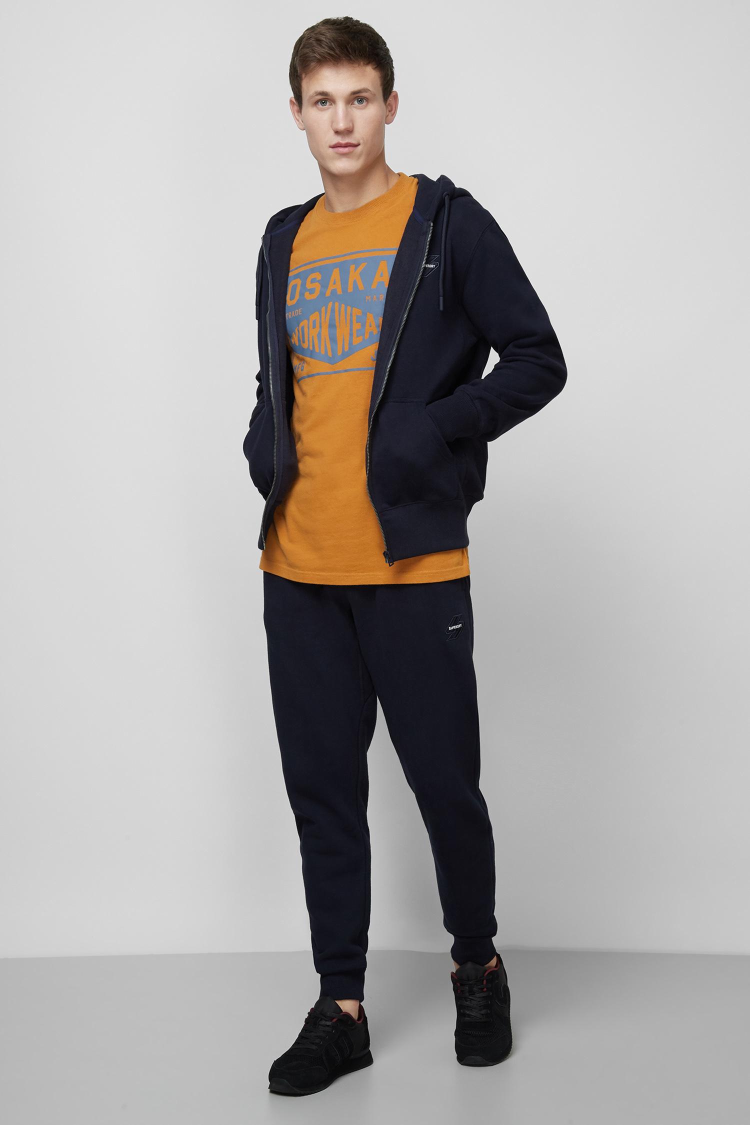 Мужское темно-синее худи SuperDry M2010215A;JKE